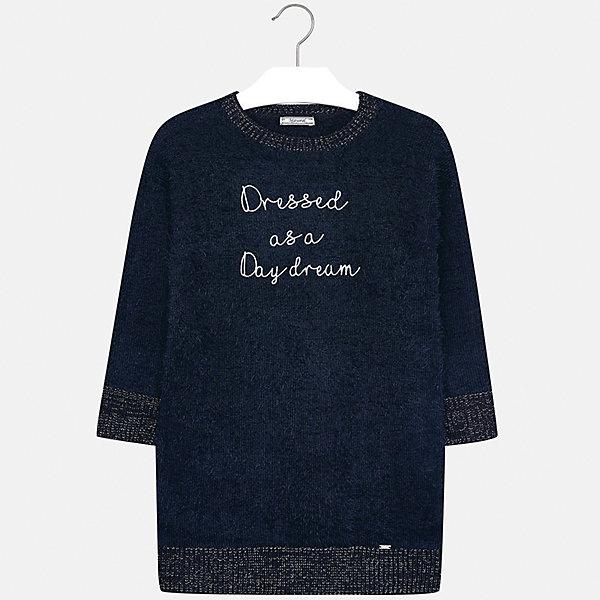 Платье Mayoral для девочкиПлатья и сарафаны<br>Характеристики товара:<br><br>• цвет: черный<br>• состав ткани: 62% полиамид, 38% акрил<br>• сезон: круглый год<br>• длинные рукава<br>• вышивка<br>• страна бренда: Испания<br>• страна изготовитель: Китай<br><br>Черное платье для девочки от популярного бренда Mayoral отличается прямым силуэтом и наличием вышивки. Детское платье смотрится аккуратно и стильно.<br><br>В одежде от испанской компании Майорал ребенок будет выглядеть модно, а чувствовать себя - комфортно. Целая команда европейских талантливых дизайнеров работает над созданием стильных и оригинальных моделей одежды. <br><br>Платье для девочки Mayoral (Майорал) можно купить в нашем интернет-магазине.<br><br>Ширина мм: 236<br>Глубина мм: 16<br>Высота мм: 184<br>Вес г: 177<br>Цвет: темно-синий<br>Возраст от месяцев: 96<br>Возраст до месяцев: 108<br>Пол: Женский<br>Возраст: Детский<br>Размер: 128/134,170,164,158,152,140<br>SKU: 6925323
