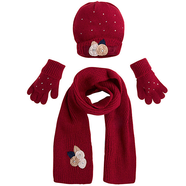 Комплект: шапка, шарф и перчатки для девочки MayoralШарфы, платки<br>Характеристики товара:<br><br>• цвет: красный<br>• состав ткани: 75% акрил, 25% полиамид<br>• сезон: демисезон<br>• комплектация: шапка, шарф, перчатки<br>• страна бренда: Испания<br>• страна изготовитель: Индия<br><br>Обеспечить ребенку тепло и комфорт поможет такой набор. Детский комплект для межсезонья от бренда Майорал смотрится модно и оригинально.<br><br>Детская одежда от испанской компании Mayoral отличаются оригинальным и всегда стильным дизайном. Качество продукции неизменно очень высокое.<br><br>Комплект: шапка, шарф и перчатки для девочки Mayoral (Майорал) можно купить в нашем интернет-магазине.<br>Ширина мм: 89; Глубина мм: 117; Высота мм: 44; Вес г: 155; Цвет: красный; Возраст от месяцев: 72; Возраст до месяцев: 84; Пол: Женский; Возраст: Детский; Размер: 54,50,52; SKU: 6925619;