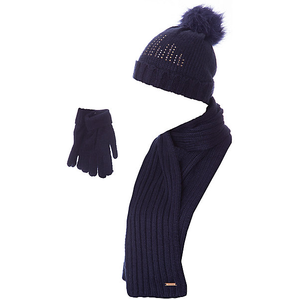 Комплект: шапка, шарф и перчатки для девочки MayoralКомплекты<br>Характеристики товара:<br><br>• цвет: черный<br>• состав ткани: 100% акрил<br>• сезон: демисезон<br>• комплектация: шапка, шарф, перчатки<br>• страна бренда: Испания<br>• страна изготовитель: Индия<br><br>Такой модный набор поможет обеспечить ребенку тепло и комфорт. Детский комплект для межсезонья от бренда Майорал смотрится модно и оригинально.<br><br>Детская одежда от испанской компании Mayoral отличаются оригинальным и всегда стильным дизайном. Качество продукции неизменно очень высокое.<br><br>Комплект: шапка, шарф и перчатки для девочки Mayoral (Майорал) можно купить в нашем интернет-магазине.<br>Ширина мм: 89; Глубина мм: 117; Высота мм: 44; Вес г: 155; Цвет: черный; Возраст от месяцев: 24; Возраст до месяцев: 36; Пол: Женский; Возраст: Детский; Размер: 50,54,52; SKU: 6925643;
