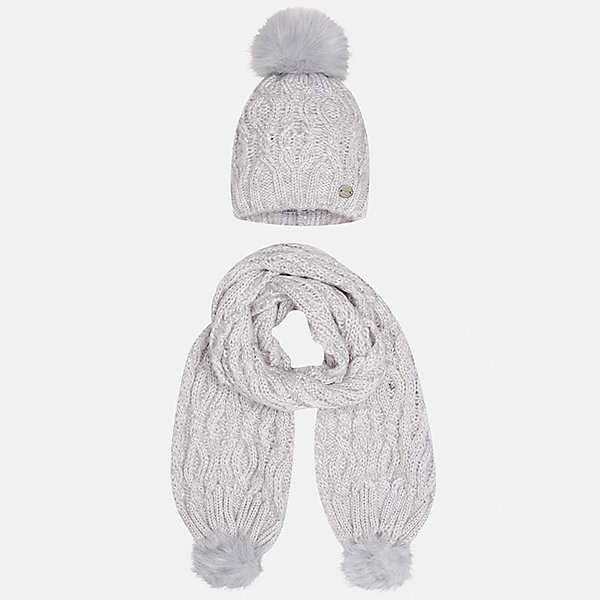 Комплект: шапка и шарф Mayoral для девочкиШарфы, платки<br>Характеристики товара:<br><br>• цвет: белый<br>• состав ткани: 100% акрил<br>• сезон: демисезон<br>• комплектация: шапка, шарф<br>• страна бренда: Испания<br>• страна изготовитель: Индия<br><br>Такой стильный белый набор поможет обеспечить ребенку тепло и комфорт. Детский комплект для межсезонья от бренда Майорал смотрится модно и оригинально.<br><br>Детская одежда от испанской компании Mayoral отличаются оригинальным и всегда стильным дизайном. Качество продукции неизменно очень высокое.<br><br>Комплект: шапка и шарф для девочки Mayoral (Майорал) можно купить в нашем интернет-магазине.<br><br>Ширина мм: 89<br>Глубина мм: 117<br>Высота мм: 44<br>Вес г: 155<br>Цвет: серый<br>Возраст от месяцев: 48<br>Возраст до месяцев: 60<br>Пол: Женский<br>Возраст: Детский<br>Размер: 52,56,54<br>SKU: 6925724