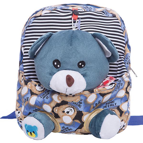 Рюкзак  Vitacci для девочкиДетские сумки<br>Характеристики товара:<br><br>• цвет: синий;<br>• материал: текстиль;<br>• особенности: с мягкой игрушкой;<br>• застежка: молния;<br>• количество отделений: 1;<br>• игрушка вынимается;<br>• плечевые лямки регулируются по длине;<br>• объем: 0,02 л;<br>• вес: 240 гр;<br>• размер: 25х7х24 см;<br>• страна бренда: Италия;<br>• страна производства: Китай.<br><br>Рюкзак с игрушкой в виде мишки. Игрушку можно вытащить. Рюкзак застегивается на молнию, внутри одно отделение. Плечевые лямки регулируются. Рюкзак очень легкий.<br><br>Рюкзак Vitacci (Витачи) можно купить в нашем интернет-магазине.<br>Ширина мм: 170; Глубина мм: 157; Высота мм: 67; Вес г: 117; Цвет: синий; Возраст от месяцев: 48; Возраст до месяцев: 144; Пол: Женский; Возраст: Детский; Размер: one size; SKU: 6926960;
