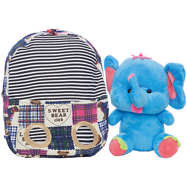 Рюкзак  Vitacci для девочкиДетские сумки<br>Характеристики товара:<br><br>• цвет: синий;<br>• материал: текстиль;<br>• особенности: с мягкой игрушкой;<br>• застежка: молния;<br>• количество отделений: 1;<br>• игрушка вынимается;<br>• плечевые лямки регулируются по длине;<br>• объем: 0,02 л;<br>• вес: 240 гр;<br>• размер: 25х7х24 см;<br>• страна бренда: Италия;<br>• страна производства: Китай.<br><br>Рюкзак с игрушкой в виде слона. Игрушку можно вытащить. Рюкзак застегивается на молнию, внутри одно отделение. Плечевые лямки регулируются. Рюкзак очень легкий.<br><br>Рюкзак Vitacci (Витачи) можно купить в нашем интернет-магазине.<br><br>Ширина мм: 170<br>Глубина мм: 157<br>Высота мм: 67<br>Вес г: 117<br>Цвет: синий<br>Возраст от месяцев: 48<br>Возраст до месяцев: 144<br>Пол: Женский<br>Возраст: Детский<br>Размер: one size<br>SKU: 6926962