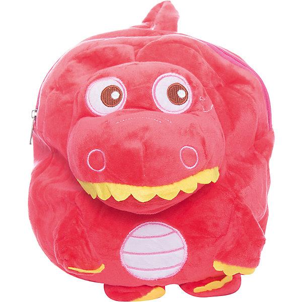Рюкзак  Vitacci для девочкиДетские сумки<br>Характеристики товара:<br><br>• цвет: красный;<br>• материал: текстиль;<br>• особенности: с игрушкой;<br>• застежка: молния;<br>• количество отделений: 1;<br>• игрушка не съемная;<br>• плечевые лямки регулируются по длине;<br>• объем: 0,02 л;<br>• вес: 100 гр;<br>• размер: 24х10х25 см;<br>• страна бренда: Италия;<br>• страна производства: Китай.<br><br>Рюкзак с игрушкой в виде динозавра. Рюкзак застегивается на молнию, внутри одно отделение. Игрушка пришита к рюкзаку. Плечевые лямки регулируются. Рюкзак очень легкий.<br><br>Рюкзак Vitacci (Витачи) можно купить в нашем интернет-магазине.<br>Ширина мм: 170; Глубина мм: 157; Высота мм: 67; Вес г: 117; Цвет: розовый; Возраст от месяцев: 48; Возраст до месяцев: 144; Пол: Женский; Возраст: Детский; Размер: one size; SKU: 6926964;