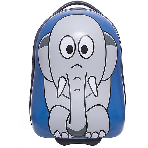 Чемодан  Vitacci для мальчикаАксессуары<br>Характеристики товара:<br><br>• цвет: синий;<br>• материал: пластик;<br>• внутренний материал: текстиль;<br>• объем чемодана: 32 литра;<br>• вес чемодана: 1,8 кг;<br>• размер чемодана: 33х22х40 см;<br>• чемодан застегивается на молнию:<br>• чемодан на двух колесиках;<br>• чемодан с выдвижной телескопической ручкой;<br>• ручка фиксируется в двух положениях;<br>• количество отделений чемодана: 2;<br>• 1 на молнии, 2 с перекрестными ремнями;<br>• страна производства: Китай.<br><br>Этот забавный чемодан отлично подойдет для путешествий с детьми. Удобный чемодан на прочных колесиках с выдвижной ручкой. Чемодан застегиваются на молнию, сделан из прочного пластика. Внутри чемодана два отделения. На чемодане крупный рисунок в виде слона.<br><br>Чемодан Vitacci (Витачи) можно купить в нашем интернет-магазине.<br><br>Ширина мм: 170<br>Глубина мм: 157<br>Высота мм: 67<br>Вес г: 117<br>Цвет: синий<br>Возраст от месяцев: 48<br>Возраст до месяцев: 144<br>Пол: Мужской<br>Возраст: Детский<br>Размер: one size<br>SKU: 6927030