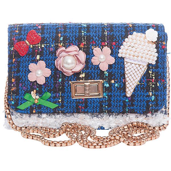 Сумка для девочки VitacciДетские сумки<br>Характеристики товара:<br><br>• цвет: синий;<br>• материал: текстиль;<br>• особенности: с аппликацией, с бусинами;<br>• застежка: клапан с замочком;<br>• количество отделений: 1;<br>• внутренний карман на молнии;<br>• сумка на плечо;<br>• ремешок в виде цепочки;<br>• вес: 100 гр;<br>• размер: 19х6,5х13 см;<br>• страна бренда: Италия;<br>• страна производства: Китай.<br><br>Сумка на плечо для девочки. Сумка застегивается на клапан с замочком, ремешок в виде цепочки. Внутри одно отделение и карман на молнии. Спереди сумка декорирована объемными аппликациями и бусинами под жемчуг.<br><br>Сумку на плечо Vitacci (Витачи) можно купить в нашем интернет-магазине.<br><br>Ширина мм: 170<br>Глубина мм: 157<br>Высота мм: 67<br>Вес г: 117<br>Цвет: синий<br>Возраст от месяцев: 48<br>Возраст до месяцев: 144<br>Пол: Женский<br>Возраст: Детский<br>Размер: one size<br>SKU: 6927036