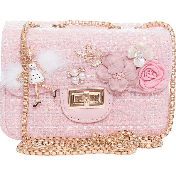 Сумка для девочки VitacciДетские сумки<br>Характеристики товара:<br><br>• цвет: розовый;<br>• материал: текстиль;<br>• особенности: с аппликацией, с бусинами, со стразами;<br>• застежка: клапан с замочком;<br>• количество отделений: 1;<br>• внутренний карман на молнии;<br>• сумка на плечо;<br>• ремешок в виде цепочки;<br>• вес: 100 гр;<br>• размер: 20х7х13 см;<br>• страна бренда: Италия;<br>• страна производства: Китай.<br><br>Сумка на плечо для девочки. Сумка застегивается на клапан с замочком, ремешок в виде цепочки. Внутри одно отделение и карман на молнии. Спереди сумка декорирована объемными аппликациями и бусинами под жемчуг и стразами.<br><br>Сумку на плечо Vitacci (Витачи) можно купить в нашем интернет-магазине.<br>Ширина мм: 170; Глубина мм: 157; Высота мм: 67; Вес г: 117; Цвет: розовый; Возраст от месяцев: 48; Возраст до месяцев: 144; Пол: Женский; Возраст: Детский; Размер: one size; SKU: 6927040;