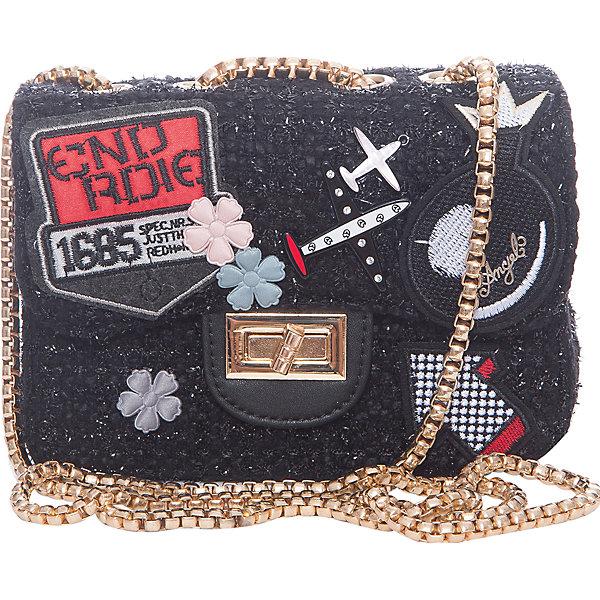 Сумка для девочки VitacciДетские сумки<br>Характеристики товара:<br><br>• цвет: черный;<br>• материал: текстиль;<br>• особенности: с аппликацией, с бусинами, со стразами;<br>• застежка: клапан с замочком;<br>• количество отделений: 1;<br>• внутренний карман на молнии;<br>• сумка на плечо;<br>• ремешок в виде цепочки;<br>• вес: 100 гр;<br>• размер: 20х7х13 см;<br>• страна бренда: Италия;<br>• страна производства: Китай.<br><br>Сумка на плечо для девочки. Сумка застегивается на клапан с замочком, ремешок в виде цепочки. Внутри одно отделение и карман на молнии. Спереди сумка декорирована объемными аппликациями и бусинами под жемчуг и стразами.<br><br>Сумку на плечо Vitacci (Витачи) можно купить в нашем интернет-магазине.<br><br>Ширина мм: 170<br>Глубина мм: 157<br>Высота мм: 67<br>Вес г: 117<br>Цвет: черный<br>Возраст от месяцев: 48<br>Возраст до месяцев: 144<br>Пол: Женский<br>Возраст: Детский<br>Размер: one size<br>SKU: 6927042