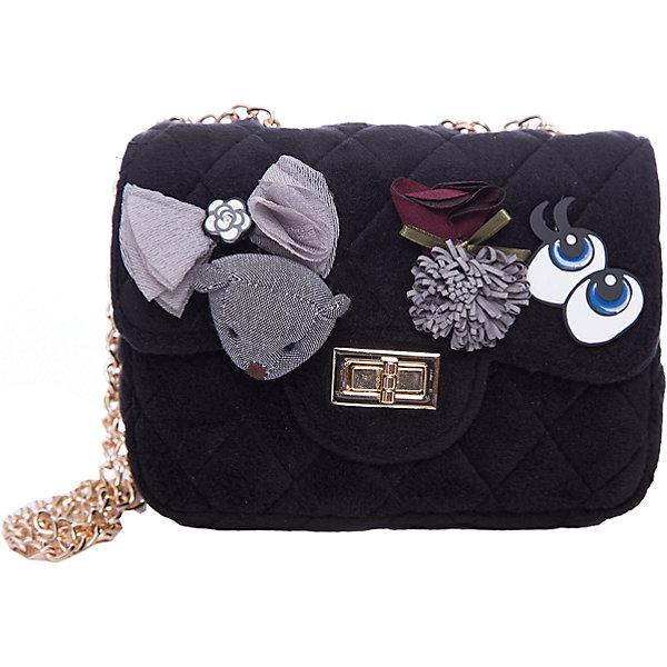 Сумка для девочки VitacciДетские сумки<br>Характеристики товара:<br><br>• цвет: черный;<br>• материал: текстиль;<br>• особенности: с аппликацией;<br>• застежка: клапан с замочком;<br>• количество отделений: 1;<br>• внутренний карман на молнии;<br>• сумка на плечо;<br>• ремешок в виде цепочки;<br>• вес: 200 гр;<br>• размер: 19х7х12 см;<br>• страна бренда: Италия;<br>• страна производства: Китай.<br><br>Сумка на плечо для девочки. Сумка застегивается на клапан с замочком, ремешок в виде цепочки. Внутри одно отделение и карман на молнии. Спереди сумка декорирована объемными аппликациями.<br><br>Сумку на плечо Vitacci (Витачи) можно купить в нашем интернет-магазине.<br><br>Ширина мм: 170<br>Глубина мм: 157<br>Высота мм: 67<br>Вес г: 117<br>Цвет: черный<br>Возраст от месяцев: 48<br>Возраст до месяцев: 144<br>Пол: Женский<br>Возраст: Детский<br>Размер: one size<br>SKU: 6927044