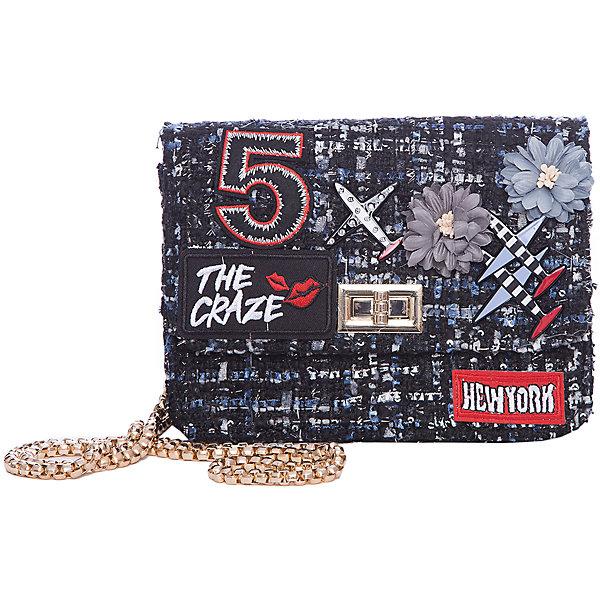 Сумка для девочки VitacciДетские сумки<br>Характеристики товара:<br><br>• цвет: черный;<br>• материал: текстиль;<br>• особенности: с аппликацией;<br>• застежка: клапан с замочком;<br>• количество отделений: 1;<br>• внутренний карман на молнии;<br>• сумка на плечо;<br>• ремешок в виде цепочки;<br>• вес: 200 гр;<br>• размер: 19х6,5х13 см;<br>• страна бренда: Италия;<br>• страна производства: Китай.<br><br>Сумка на плечо для девочки. Сумка застегивается на клапан с замочком, ремешок в виде цепочки. Внутри одно отделение и карман на молнии. Спереди сумка декорирована объемными аппликациями.<br><br>Сумку на плечо Vitacci (Витачи) можно купить в нашем интернет-магазине.<br>Ширина мм: 170; Глубина мм: 157; Высота мм: 67; Вес г: 117; Цвет: черный; Возраст от месяцев: 48; Возраст до месяцев: 144; Пол: Женский; Возраст: Детский; Размер: one size; SKU: 6927046;