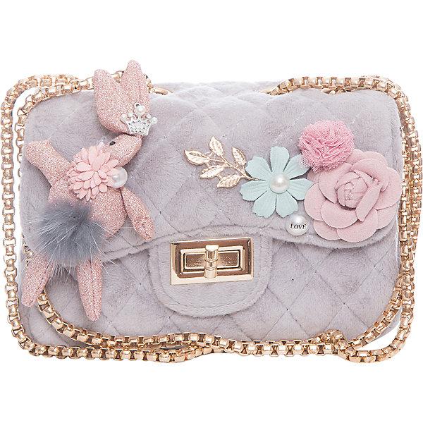 Сумка для девочки VitacciДетские сумки<br>Характеристики товара:<br><br>• цвет: серый;<br>• материал: текстиль;<br>• особенности: с аппликацией, меховая;<br>• застежка: клапан с замочком;<br>• количество отделений: 1;<br>• внутренний карман на молнии;<br>• сумка на плечо;<br>• ремешок в виде цепочки;<br>• вес: 200 гр;<br>• размер: 23х8х12 см;<br>• страна бренда: Италия;<br>• страна производства: Китай.<br><br>Сумка на плечо для девочки. Сумка застегивается на клапан с замочком, ремешок в виде цепочки. Внутри одно отделение и карман на молнии. Спереди сумка декорирована объемными аппликациями.<br><br>Сумку на плечо Vitacci (Витачи) можно купить в нашем интернет-магазине.<br>Ширина мм: 170; Глубина мм: 157; Высота мм: 67; Вес г: 117; Цвет: серый; Возраст от месяцев: 48; Возраст до месяцев: 144; Пол: Женский; Возраст: Детский; Размер: one size; SKU: 6927048;