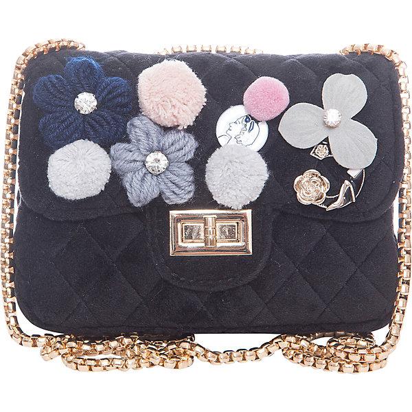 Сумка для девочки VitacciДетские сумки<br>Характеристики товара:<br><br>• цвет: черный;<br>• материал: текстиль;<br>• особенности: с аппликацией, меховая;<br>• застежка: клапан с замочком;<br>• количество отделений: 1;<br>• внутренний карман на молнии;<br>• внешний карман без застежки;<br>• сумка на плечо;<br>• ремешок в виде цепочки;<br>• вес: 200 гр;<br>• размер: 23х8х12 см;<br>• страна бренда: Италия;<br>• страна производства: Китай.<br><br>Сумка на плечо для девочки. Сумка застегивается на клапан с замочком, ремешок в виде цепочки. Внутри одно отделение и карман на молнии. Спереди сумка декорирована объемными аппликациями.<br><br>Сумку на плечо Vitacci (Витачи) можно купить в нашем интернет-магазине.<br>Ширина мм: 170; Глубина мм: 157; Высота мм: 67; Вес г: 117; Цвет: черный; Возраст от месяцев: 48; Возраст до месяцев: 144; Пол: Женский; Возраст: Детский; Размер: one size; SKU: 6927050;
