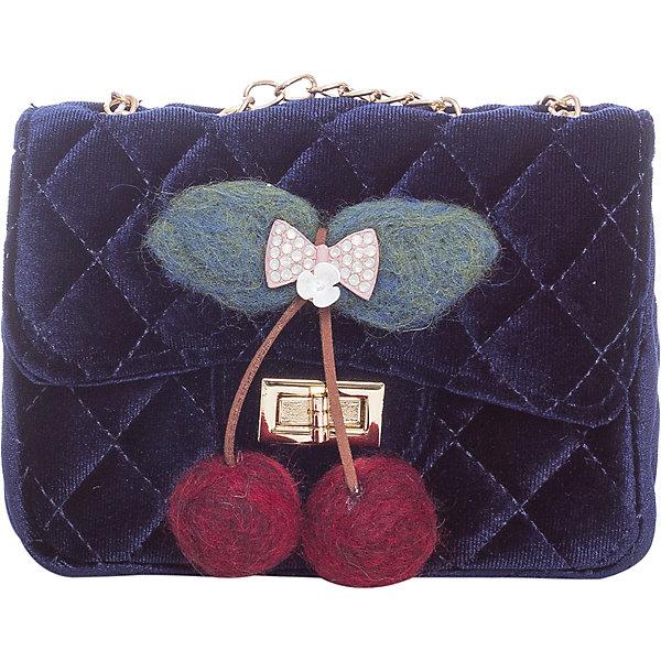 Сумка для девочки VitacciДетские сумки<br>Характеристики товара:<br><br>• цвет: синий;<br>• материал: текстиль;<br>• особенности: с аппликацией, меховая;<br>• застежка: клапан с замочком;<br>• количество отделений: 1;<br>• без карманов;<br>• сумка на плечо;<br>• ремешок в виде цепочки;<br>• вес: 100 гр;<br>• размер: 15х6х10 см;<br>• страна бренда: Италия;<br>• страна производства: Китай.<br><br>Сумка на плечо для девочки. Сумка застегивается на клапан с замочком, ремешок в виде цепочки. Внутри одно отделение. Спереди сумка декорирована объемной аппликацией в виде вишенок.<br><br>Сумку на плечо Vitacci (Витачи) можно купить в нашем интернет-магазине.<br><br>Ширина мм: 170<br>Глубина мм: 157<br>Высота мм: 67<br>Вес г: 117<br>Цвет: синий<br>Возраст от месяцев: 48<br>Возраст до месяцев: 144<br>Пол: Женский<br>Возраст: Детский<br>Размер: one size<br>SKU: 6927054