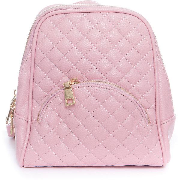 Рюкзак для девочки VitacciРюкзаки<br>Характеристики товара:<br><br>• цвет: розовый;<br>• материал: искусственная кожа;<br>• особенности: кожаный;<br>• застежка: молния;<br>• количество отделений: 1;<br>• два внутренних кармана;<br>• внешний карман на молнии;<br>• карман на молнии на спинке изделия;<br>• плечевые лямки регулируются по длине;<br>• вес: 200 гр;<br>• размер: 21х8х18 см;<br>• страна бренда: Италия;<br>• страна производства: Китай.<br><br>Молодежный рюкзак черного цвета. Рюкзак для девочки застегивается на молнию. Внутри одно большое отделение и два кармана. Два внешних кармана на молнии. Плечевые ремни регулируются.<br><br>Рюкзак Vitacci (Витачи) можно купить в нашем интернет-магазине.<br>Ширина мм: 170; Глубина мм: 157; Высота мм: 67; Вес г: 117; Цвет: розовый; Возраст от месяцев: 48; Возраст до месяцев: 144; Пол: Женский; Возраст: Детский; Размер: one size; SKU: 6927088;