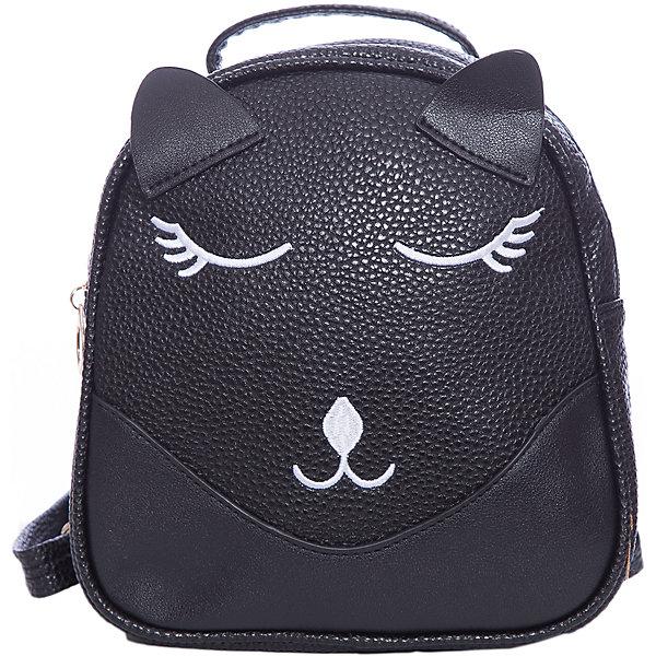 Рюкзак для девочки VitacciРюкзаки<br>Характеристики товара:<br><br>• цвет: черный;<br>• материал: искусственная кожа;<br>• особенности: кожаный, с рисунком;<br>• застежка: молния;<br>• количество отделений: 1;<br>• внутренний карман на молнии;<br>• плечевые лямки регулируются по длине;<br>• вес: 200 гр;<br>• размер: 21х6х21 см;<br>• страна бренда: Италия;<br>• страна производства: Китай.<br><br>Детский рюкзак черного цвета. Рюкзак для девочки застегивается на молнию. Внутри одно большое отделение и карман на молнии. Плечевые ремни регулируются. Спереди рисунок в виде мордашки котенка.<br><br>Рюкзак Vitacci (Витачи) можно купить в нашем интернет-магазине.<br><br>Ширина мм: 170<br>Глубина мм: 157<br>Высота мм: 67<br>Вес г: 117<br>Цвет: черный<br>Возраст от месяцев: 48<br>Возраст до месяцев: 144<br>Пол: Женский<br>Возраст: Детский<br>Размер: one size<br>SKU: 6927094