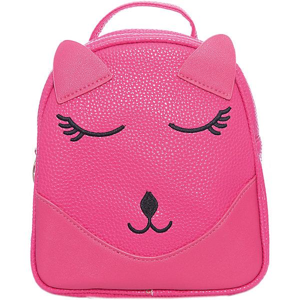 Рюкзак для девочки VitacciРюкзаки<br>Характеристики товара:<br><br>• цвет: розовый;<br>• материал: искусственная кожа;<br>• особенности: кожаный, с рисунком;<br>• застежка: молния;<br>• количество отделений: 1;<br>• внутренний карман на молнии;<br>• плечевые лямки регулируются по длине;<br>• вес: 200 гр;<br>• размер: 21х6х21 см;<br>• страна бренда: Италия;<br>• страна производства: Китай.<br><br>Детский рюкзак черного цвета. Рюкзак для девочки застегивается на молнию. Внутри одно большое отделение и карман на молнии. Плечевые ремни регулируются. Спереди рисунок в виде мордашки котенка.<br><br>Рюкзак Vitacci (Витачи) можно купить в нашем интернет-магазине.<br><br>Ширина мм: 170<br>Глубина мм: 157<br>Высота мм: 67<br>Вес г: 117<br>Цвет: розовый<br>Возраст от месяцев: 48<br>Возраст до месяцев: 144<br>Пол: Женский<br>Возраст: Детский<br>Размер: one size<br>SKU: 6927096