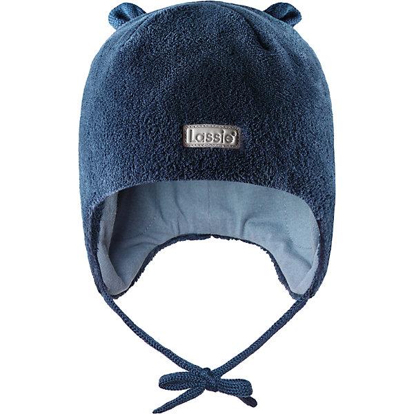 Флисовая шапка LassieШапки и шарфы<br>Характеристики товара:<br><br>• цвет: синий;<br>• состав: 100% полиэстер;<br>• подкладка: 97% хлопок, 3% эластан;<br>• сезон: зима;<br>• температурный режим: от +5 до -20С;<br>• особенности: флисовая, на завязках;<br>• застежка: эластичные завязки;<br>• дышащий, теплый и быстросохнущий флис;<br>• сплошная подкладка: приятный на ощупь хлопковый трикотаж с эластаном;<br>• ветронепроницаемые вставки в области ушей;<br>• декоративные элементы в виде ушек наверху;<br>• светоотражающая эмблема спереди;<br>• страна бренда: Финляндия;<br>• страна изготовитель: Китай;<br><br>Эта мягкая и теплая флисовая шапка на завязках – превосходный аксессуар для холодных зимних деньков. Ветронепроницаемые вставки в области ушей обеспечивают дополнительную защиту, а мягкая подкладка из джерси очень приятна на ощупь. <br><br>Шапку Lassie (Ласси) можно купить в нашем интернет-магазине.<br><br>Ширина мм: 89<br>Глубина мм: 117<br>Высота мм: 44<br>Вес г: 155<br>Цвет: синий<br>Возраст от месяцев: 9<br>Возраст до месяцев: 12<br>Пол: Мужской<br>Возраст: Детский<br>Размер: 44-46,54-56,50-52,46-48<br>SKU: 6927234