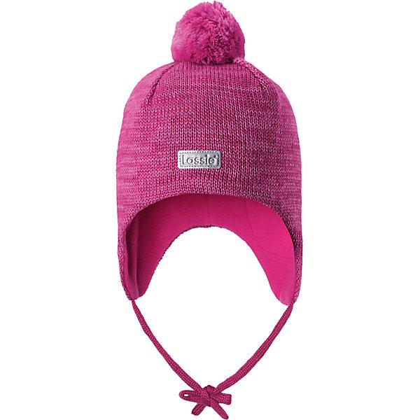 Шапка LassieШапки и шарфы<br>Характеристики товара:<br><br>• цвет: розовый;<br>• состав: 50% шерсть, 50% полиакрил;<br>• подкладка: 100% полиэстер, флис;<br>• сезон: зима;<br>• температурный режим: от +5 до -20С;<br>• особенности: на завязках, на флисовой подкладке, с помпоном;<br>• застежка: эластичные завязки;<br>• мягкая и теплая ткань из смеси шерсти;<br>• ветронепроницаемые вставки в области ушей;<br>• помпон сверху;<br>• сплошная подкладка: мягкий, теплый флис;<br>• интересная структура поверхности; <br>• светоотражающая эмблема спереди;<br>• страна бренда: Финляндия;<br>• страна изготовитель: Китай;<br><br>Шапка с помпоном, выполненная из смеси шерсти для холодных осенних и зимних дней. Оригинальная структурная вязка придает ей модный вид. Шапка на подкладке из флиса, ветронепроницаемые вставки в области ушей помогут защитить ушки от морозного ветра во время прогулок на свежем воздухе. Спереди имеется светоотражающая эмблема Lassie® и стильный помпон завершает образ!<br><br>Шапку Lassie (Ласси) можно купить в нашем интернет-магазине.<br>Ширина мм: 89; Глубина мм: 117; Высота мм: 44; Вес г: 155; Цвет: розовый; Возраст от месяцев: 9; Возраст до месяцев: 12; Пол: Женский; Возраст: Детский; Размер: 44-46,50-52,46-48; SKU: 6927255;
