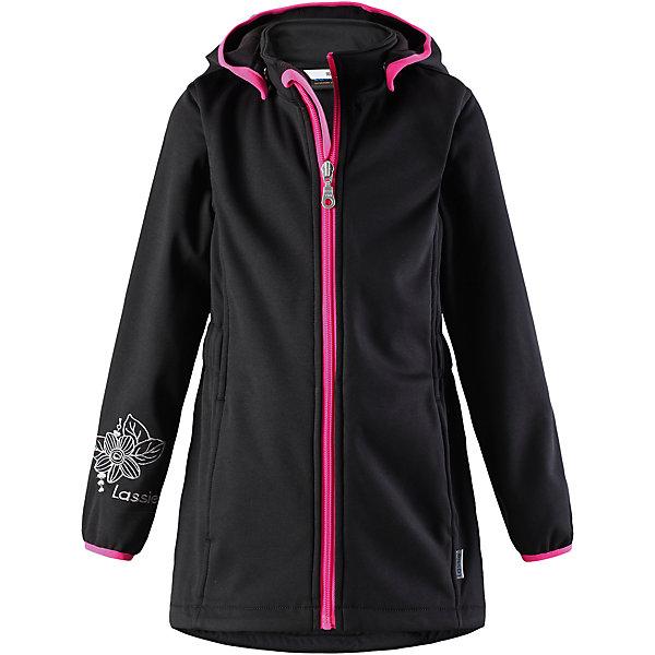 Куртка Lassie для девочкиОдежда<br>Характеристики товара:<br><br>• цвет: черный;<br>• состав: 100% полиэстер, полиуретановое покрытие;<br>• подкладка: 100% полиэстер, флис;<br>• без утеплителя;<br>• сезон: демисезон;<br>• температурный режим: от +5С;<br>• водонепроницаемость: 5000 мм;<br>• воздухопроницаемость: 5000 мм;<br>• застежка: молния с защитой подбородка;<br>• из ветронепроницаемого материала, но изделие дышит;<br>• подкладка из теплого флиса;<br>• безопасный съемный капюшон; <br>• эластичная талия и манжеты рукавов;<br>• эластичная резинка на кромке капюшона;<br>• карманы в боковых швах;<br>• светоотражающие детали;<br>• страна бренда: Финляндия;<br>• страна изготовитель: Китай;<br><br>Замечательная куртка для осенней поры! Верх из материала softshell не пропускает ветер, но при этом дышит, а флисовая изнаночная сторона отлично греет. Съемный капюшон безопасен во время игр на свежем воздухе. Два прорезных кармана надежно сохранят все маленькие сокровища.<br><br>Куртку Lassie (Ласси) для девочки можно купить в нашем интернет-магазине.<br><br>Ширина мм: 356<br>Глубина мм: 10<br>Высота мм: 245<br>Вес г: 519<br>Цвет: черный<br>Возраст от месяцев: 36<br>Возраст до месяцев: 48<br>Пол: Женский<br>Возраст: Детский<br>Размер: 104,140,134,128,122,116,110<br>SKU: 6927463
