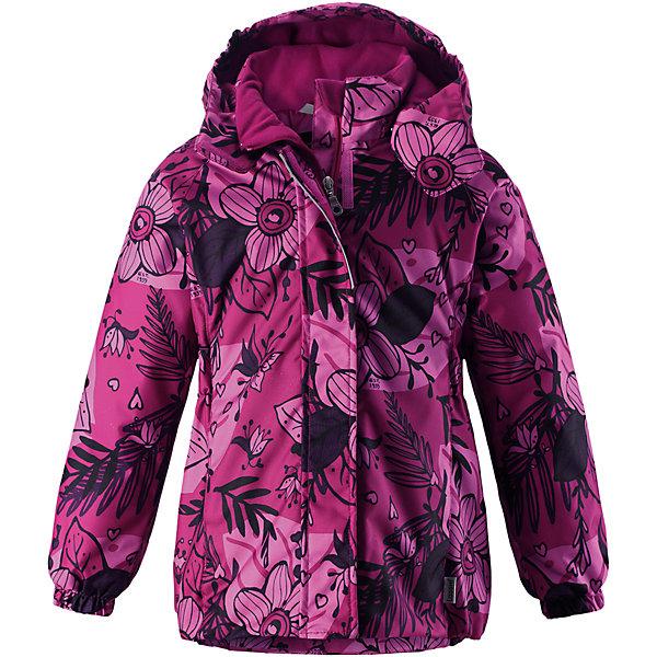 Куртка Lassie для девочкиОдежда<br>Характеристики товара:<br><br>• цвет: розовый;<br>• состав: 100% полиэстер, полиуретановое покрытие;<br>• подкладка: 100% полиэстер;<br>• утеплитель: 180 г/м2;<br>• сезон: зима;<br>• температурный режим: от 0 до -20С;<br>• водонепроницаемость: 1000 мм;<br>• воздухопроницаемость: 1000 мм;<br>• износостойкость: 50000 циклов (тест Мартиндейла);<br>• застежка: молния с дополнительной защитной планкой;<br>• водоотталкивающий, ветронепроницаемый и дышащий материал;<br>• гладкая подкладка из полиэстера;<br>• безопасный съемный капюшон; <br>• эластичные манжеты рукавов; <br>• эластичная кромка подола;<br>• карманы в боковых швах;<br>• светоотражающие детали;<br>• страна бренда: Финляндия;<br>• страна изготовитель: Китай;<br><br>Зимняя куртка для девочек с цветочным рисунком. Куртка изготовлена из ветронепроницаемого, дышащего материала с верхним водо- и грязеотталкивающим слоем, поэтому вашему ребенку будет тепло и удобно во время веселых зимних прогулок. Эта куртка с подкладкой из гладкого полиэстера легко надевается, и ее очень удобно носить с теплым промежуточным слоем. Безопасный, отстегивающийся капюшон защищает от холодного ветра, а также безопасен во время игр на свежем воздухе. Модель для девочек.<br><br><br>Куртку Lassie (Ласси) для девочки можно купить в нашем интернет-магазине.<br>Ширина мм: 356; Глубина мм: 10; Высота мм: 245; Вес г: 519; Цвет: розовый; Возраст от месяцев: 72; Возраст до месяцев: 84; Пол: Женский; Возраст: Детский; Размер: 122,110,104,98,92,140,134,116,128; SKU: 6927481;