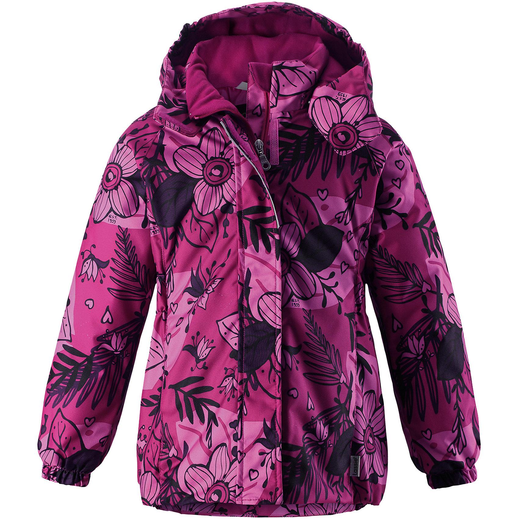 Куртка Lassie для девочкиОдежда<br>Характеристики товара:<br><br>• цвет: розовый;<br>• состав: 100% полиэстер, полиуретановое покрытие;<br>• подкладка: 100% полиэстер;<br>• утеплитель: 180 г/м2;<br>• сезон: зима;<br>• температурный режим: от 0 до -20С;<br>• водонепроницаемость: 1000 мм;<br>• воздухопроницаемость: 1000 мм;<br>• износостойкость: 50000 циклов (тест Мартиндейла);<br>• застежка: молния с дополнительной защитной планкой;<br>• водоотталкивающий, ветронепроницаемый и дышащий материал;<br>• гладкая подкладка из полиэстера;<br>• безопасный съемный капюшон; <br>• эластичные манжеты рукавов; <br>• эластичная кромка подола;<br>• карманы в боковых швах;<br>• светоотражающие детали;<br>• страна бренда: Финляндия;<br>• страна изготовитель: Китай;<br><br>Зимняя куртка для девочек с цветочным рисунком. Куртка изготовлена из ветронепроницаемого, дышащего материала с верхним водо- и грязеотталкивающим слоем, поэтому вашему ребенку будет тепло и удобно во время веселых зимних прогулок. Эта куртка с подкладкой из гладкого полиэстера легко надевается, и ее очень удобно носить с теплым промежуточным слоем. Безопасный, отстегивающийся капюшон защищает от холодного ветра, а также безопасен во время игр на свежем воздухе. Модель для девочек.<br><br><br>Куртку Lassie (Ласси) для девочки можно купить в нашем интернет-магазине.<br><br>Ширина мм: 356<br>Глубина мм: 10<br>Высота мм: 245<br>Вес г: 519<br>Цвет: розовый<br>Возраст от месяцев: 108<br>Возраст до месяцев: 120<br>Пол: Женский<br>Возраст: Детский<br>Размер: 140,92,98,104,110,116,122,128,134<br>SKU: 6927481