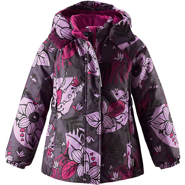 Куртка Lassie для девочкиОдежда<br>Характеристики товара:<br><br>• цвет: фиолетовый;<br>• состав: 100% полиэстер, полиуретановое покрытие;<br>• подкладка: 100% полиэстер;<br>• утеплитель: 180 г/м2;<br>• сезон: зима;<br>• температурный режим: от 0 до -20С;<br>• водонепроницаемость: 1000 мм;<br>• воздухопроницаемость: 1000 мм;<br>• износостойкость: 50000 циклов (тест Мартиндейла);<br>• застежка: молния с дополнительной защитной планкой;<br>• водоотталкивающий, ветронепроницаемый и дышащий материал;<br>• гладкая подкладка из полиэстера;<br>• безопасный съемный капюшон; <br>• эластичные манжеты рукавов; <br>• эластичная кромка подола;<br>• карманы в боковых швах;<br>• светоотражающие детали;<br>• страна бренда: Финляндия;<br>• страна изготовитель: Китай;<br><br>Зимняя куртка для девочек с цветочным рисунком. Куртка изготовлена из ветронепроницаемого, дышащего материала с верхним водо- и грязеотталкивающим слоем, поэтому вашему ребенку будет тепло и удобно во время веселых зимних прогулок. Эта куртка с подкладкой из гладкого полиэстера легко надевается, и ее очень удобно носить с теплым промежуточным слоем. Безопасный, отстегивающийся капюшон защищает от холодного ветра, а также безопасен во время игр на свежем воздухе. Модель для девочек.<br><br><br>Куртку Lassie (Ласси) для девочки можно купить в нашем интернет-магазине.<br><br>Ширина мм: 356<br>Глубина мм: 10<br>Высота мм: 245<br>Вес г: 519<br>Цвет: лиловый<br>Возраст от месяцев: 18<br>Возраст до месяцев: 24<br>Пол: Женский<br>Возраст: Детский<br>Размер: 92,140,134,128,122,116,110,104,98<br>SKU: 6927491