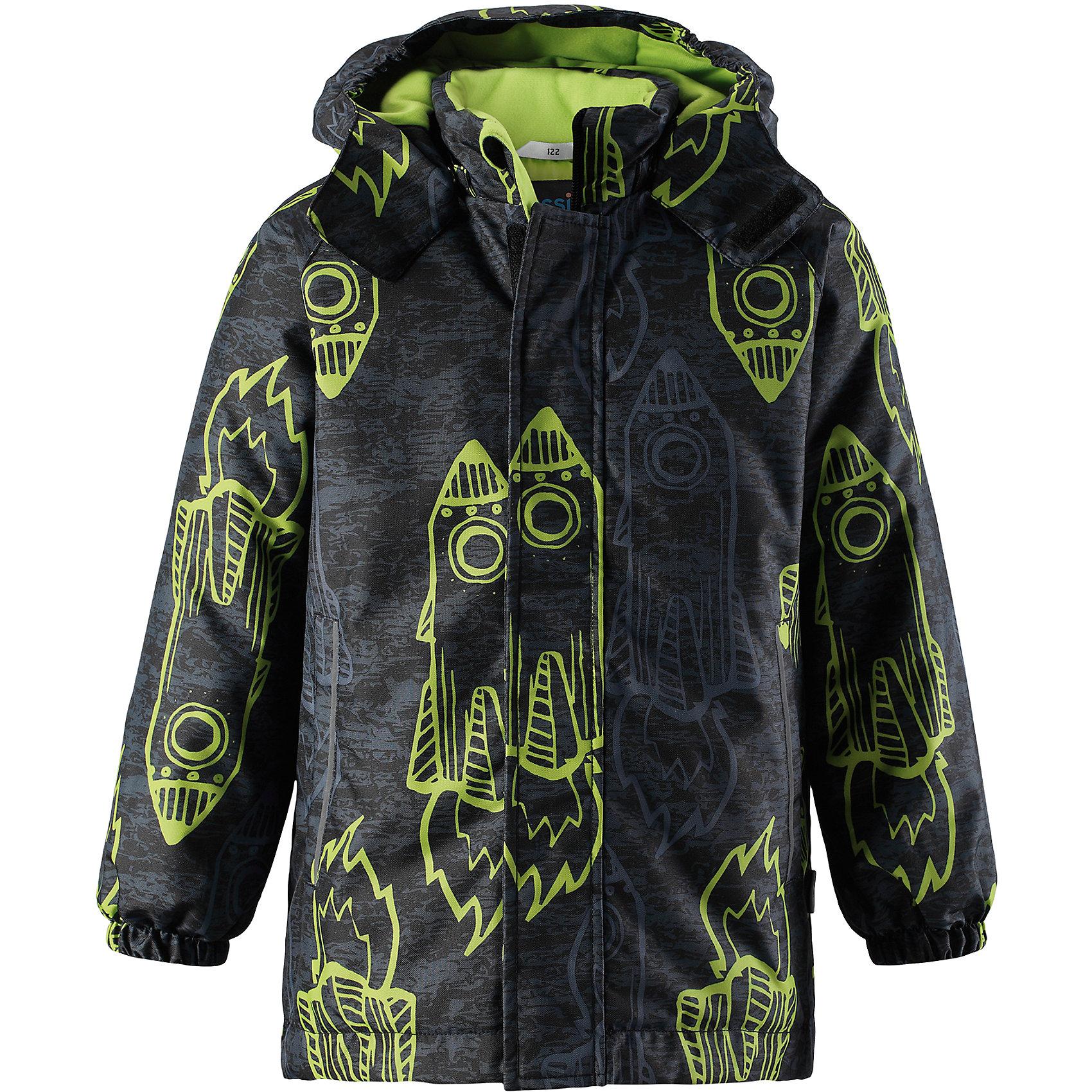 Куртка Lassie для мальчикаОдежда<br>Детская зимняя куртка с ярким рисунком очень стильно выглядит. Куртка изготовлена из ветронепроницаемого, дышащего материала с верхним водо- и грязеотталкивающим слоем, поэтому вашему ребенку будет тепло и удобно во время веселых игр. Съемный капюшон и светоотражающие элементы на обоих рукавах обеспечивают дополнительную безопасность во время прогулок на свежем воздухе. Регулируемый подол позволяет откорректировать куртку идеально по фигуре и не пропускает холодный воздух. Храните все маленькие сокровища в прорезных карманах – они будут в целости и сохранности!<br>Состав:<br>100% Полиэстер<br><br>Ширина мм: 356<br>Глубина мм: 10<br>Высота мм: 245<br>Вес г: 519<br>Цвет: зеленый<br>Возраст от месяцев: 108<br>Возраст до месяцев: 120<br>Пол: Мужской<br>Возраст: Детский<br>Размер: 140,92,98,104,110,116,122,128,134<br>SKU: 6927521