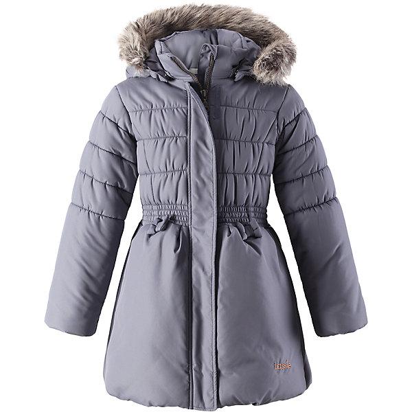 Куртка Lassie для девочкиОдежда<br>Характеристики товара:<br><br>• цвет: серый;<br>• состав: 100% полиэстер, полиуретановое покрытие;<br>• подкладка: 100% полиэстер;<br>• утеплитель: 200 г/м2;<br>• сезон: зима;<br>• температурный режим: от 0 до -25С;<br>• водонепроницаемость: 1000 мм;<br>• воздухопроницаемость: 1000 мм;<br>• износостойкость: 20000 циклов (тест Мартиндейла);<br>• особенности: с мехом, стеганая;<br>• застежка: молния с дополнительной защитной планкой и защитой подбородка;<br>• водоотталкивающий, ветронепроницаемый и дышащий материал;<br>• гладкая подкладка из полиэстера;<br>• безопасный съемный капюшон; <br>• съемный искусственный мех на капюшоне;<br>• эластичные манжеты рукавов; <br>• эластичная кромка подола;<br>• карманы в боковых швах;<br>• светоотражающие детали;<br>• страна бренда: Финляндия;<br>• страна изготовитель: Китай;<br><br>Чудесная куртка на зимние холода! Эта зимняя куртка сшита из водоотталкивающего, ветронепроницаемого и дышащего материала. Она снабжена безопасным съемным капюшоном, а съемная оторочка из искусственного меха оживляет образ.<br><br>Куртку Lassie (Ласси) для девочки можно купить в нашем интернет-магазине.<br><br>Ширина мм: 356<br>Глубина мм: 10<br>Высота мм: 245<br>Вес г: 519<br>Цвет: серый<br>Возраст от месяцев: 18<br>Возраст до месяцев: 24<br>Пол: Женский<br>Возраст: Детский<br>Размер: 92,140,134,128,122,116,110,104,98<br>SKU: 6927641