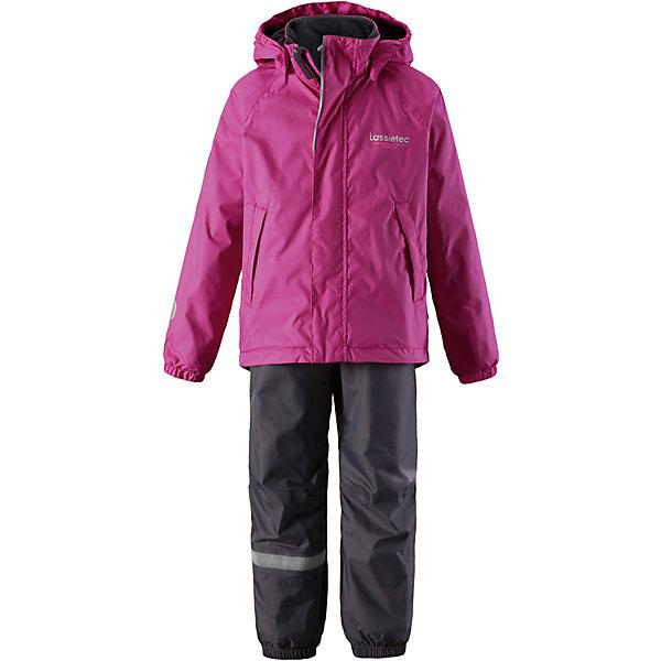 Комплект Lassietec LassieОдежда<br>Характеристики товара:<br><br>• цвет: розовый;<br>• состав: 100% полиэстер, полиуретановое покрытие;<br>• подкладка: 100% полиэстер;<br>• без утеплителя;<br>• сезон: демисезон;<br>• температурный режим: от +5С;<br>• водонепроницаемость: 5000 мм;<br>• воздухопроницаемость: 8000 мм;<br>• износостойкость: 10000 циклов (тест Мартиндейла);<br>• застежка: куртка на молнии, брюки на резинке;<br>• внешние швы проклеены и водонепроницаемы;<br>• гладкая подкладка из полиэстера; <br>• безопасный съемный капюшон на молнии;<br>• эластичные манжеты; <br>• эластичные штанины;<br>• регулируемые подол;<br>• съемные штрипки в размерах 92-128;<br>• два прорезных кармана;<br>• светоотражающие детали;<br>• страна бренда: Финляндия;<br>• страна изготовитель: Китай;<br><br>Детский демисезонный комплект с красочной, всегда актуальной расцветкой и гарантированной функциональностью Lassietec®. Все основные швы проклеены, водонепроницаемы. Удобная гладкая подкладка из полиэстера облегчает надевание. В прорезных карманах ключи и другие важные вещи будут в сохранности.<br><br>Комплект Lassietec Lassie (Ласси) для девочки можно купить в нашем интернет-магазине.<br><br>Ширина мм: 356<br>Глубина мм: 10<br>Высота мм: 245<br>Вес г: 519<br>Цвет: розовый<br>Возраст от месяцев: 108<br>Возраст до месяцев: 120<br>Пол: Женский<br>Возраст: Детский<br>Размер: 140,92,98,104,110,116,122,128,134<br>SKU: 6927791