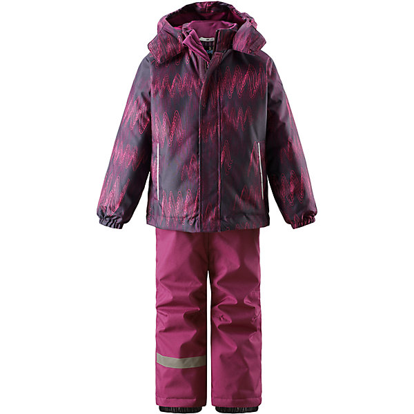 Комплект LassieОдежда<br>Характеристики товара:<br><br>• цвет: фиолетовый;<br>• состав: 100% полиэстер, полиуретановое покрытие;<br>• подкладка: 100% полиэстер;<br>• утеплитель: куртка 180 г/м2, брюки 100 г/м2;<br>• сезон: зима;<br>• температурный режим: от 0 до -20С;<br>• водонепроницаемость: 1000 мм;<br>• воздухопроницаемость: 1000 мм;<br>• износостойкость: 50000 циклов (тест Мартиндейла);<br>• застежка: куртка на молнии, брюки молнии и пуговице;<br>• водоотталкивающий, ветронепроницаемый и дышащий материал;<br>• гладкая подкладка из полиэстера; <br>• безопасный съемный капюшон;<br>• эластичные манжеты; <br>• снегозащитные манжеты на штанинах;<br>• регулируемые подол;<br>• регулируемые и отстегивающиеся эластичные подтяжки;<br>• два прорезных кармана;<br>• светоотражающие детали;<br>• страна бренда: Финляндия;<br>• страна изготовитель: Китай;<br><br>Этот детский зимний комплект рассчитан на активных детей, которые любят играть на улице в любую погоду. Он изготовлен из сверхпрочного материала и оснащен безопасным съемным капюшоном, который обеспечивает дополнительную защиту. Регулируемый подол куртки и подтяжки на брюках позволяют откорректировать одежду по фигуре. На концах брючин предусмотрена защита от снега, поэтому ножки останутся сухими во время игр на снегу. Красочный рисунок дополняет образ!<br><br>Комплект Lassie (Ласси) для девочки можно купить в нашем интернет-магазине.<br><br>Ширина мм: 356<br>Глубина мм: 10<br>Высота мм: 245<br>Вес г: 519<br>Цвет: лиловый<br>Возраст от месяцев: 18<br>Возраст до месяцев: 24<br>Пол: Унисекс<br>Возраст: Детский<br>Размер: 92,140,134,128,122,116,110,104,98<br>SKU: 6927821