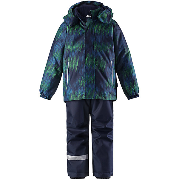 Комплект LassieОдежда<br>Характеристики товара:<br><br>• цвет: зеленый;<br>• состав: 100% полиэстер, полиуретановое покрытие;<br>• подкладка: 100% полиэстер;<br>• утеплитель: куртка 180 г/м2, брюки 100 г/м2;<br>• сезон: зима;<br>• температурный режим: от 0 до -20С;<br>• водонепроницаемость: 1000 мм;<br>• воздухопроницаемость: 1000 мм;<br>• износостойкость: 50000 циклов (тест Мартиндейла);<br>• застежка: куртка на молнии, брюки молнии и пуговице;<br>• водоотталкивающий, ветронепроницаемый и дышащий материал;<br>• гладкая подкладка из полиэстера; <br>• безопасный съемный капюшон;<br>• эластичные манжеты; <br>• снегозащитные манжеты на штанинах;<br>• регулируемые подол;<br>• регулируемые и отстегивающиеся эластичные подтяжки;<br>• два прорезных кармана;<br>• светоотражающие детали;<br>• страна бренда: Финляндия;<br>• страна изготовитель: Китай;<br><br>Этот детский зимний комплект рассчитан на активных детей, которые любят играть на улице в любую погоду. Он изготовлен из сверхпрочного материала и оснащен безопасным съемным капюшоном, который обеспечивает дополнительную защиту. Регулируемый подол куртки и подтяжки на брюках позволяют откорректировать одежду по фигуре. На концах брючин предусмотрена защита от снега, поэтому ножки останутся сухими во время игр на снегу. Красочный рисунок дополняет образ!<br><br>Комплект Lassie (Ласси) для мальчика можно купить в нашем интернет-магазине.<br><br>Ширина мм: 356<br>Глубина мм: 10<br>Высота мм: 245<br>Вес г: 519<br>Цвет: синий<br>Возраст от месяцев: 84<br>Возраст до месяцев: 96<br>Пол: Мужской<br>Возраст: Детский<br>Размер: 128,116,110,104,98,92,122,140,134<br>SKU: 6927841