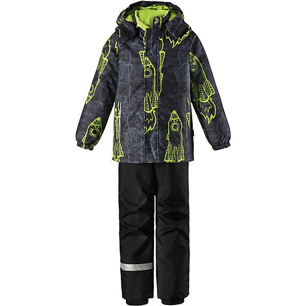 Комплект Lassie для мальчикаОдежда<br>Характеристики товара:<br><br>• цвет: серый/зеленый;<br>• состав: 100% полиэстер, полиуретановое покрытие;<br>• подкладка: 100% полиэстер;<br>• утеплитель: куртка 180 г/м2, брюки 100 г/м2;<br>• сезон: зима;<br>• температурный режим: от 0 до -20С;<br>• водонепроницаемость: 1000 мм;<br>• воздухопроницаемость: 1000 мм;<br>• износостойкость: 50000 циклов (тест Мартиндейла);<br>• застежка: куртка на молнии, брюки молнии и пуговице;<br>• водоотталкивающий, ветронепроницаемый и дышащий материал;<br>• гладкая подкладка из полиэстера; <br>• безопасный съемный капюшон;<br>• эластичные манжеты; <br>• снегозащитные манжеты на штанинах;<br>• эластичная талия;<br>• регулируемый подол;<br>• регулируемые и отстегивающиеся эластичные подтяжки;<br>• два кармана на молнии;<br>• светоотражающие детали;<br>• страна бренда: Финляндия;<br>• страна изготовитель: Китай;<br><br>Этот очень теплый детский зимний комплект имеет множество продуманных  функциональных деталей. Куртка снабжена безопасным съемным капюшоном, который защищает щечки от морозного ветра. Регулируемый подол позволяет откорректировать куртку по фигуре и обеспечивает дополнительную защиту. Защита от снега на концах брючин помогает ножкам оставаться сухими и теплыми. <br><br>Брюки изготовлены из сверхпрочного материала и идеально подходят для активных зимних игр на свежем воздухе или катания на лыжах. Удобная молния спереди облегчает надевание, а съемные регулируемые подтяжки позволяют откорректировать брюки идеально по размеру. Безопасный съемный капюшон и яркая расцветка завершают образ.<br><br>Комплект Lassie (Ласси) для мальчика можно купить в нашем интернет-магазине.<br>Ширина мм: 356; Глубина мм: 10; Высота мм: 245; Вес г: 519; Цвет: зеленый; Возраст от месяцев: 24; Возраст до месяцев: 36; Пол: Мужской; Возраст: Детский; Размер: 98,92,104,110,116,122,128,134,140; SKU: 6927901;