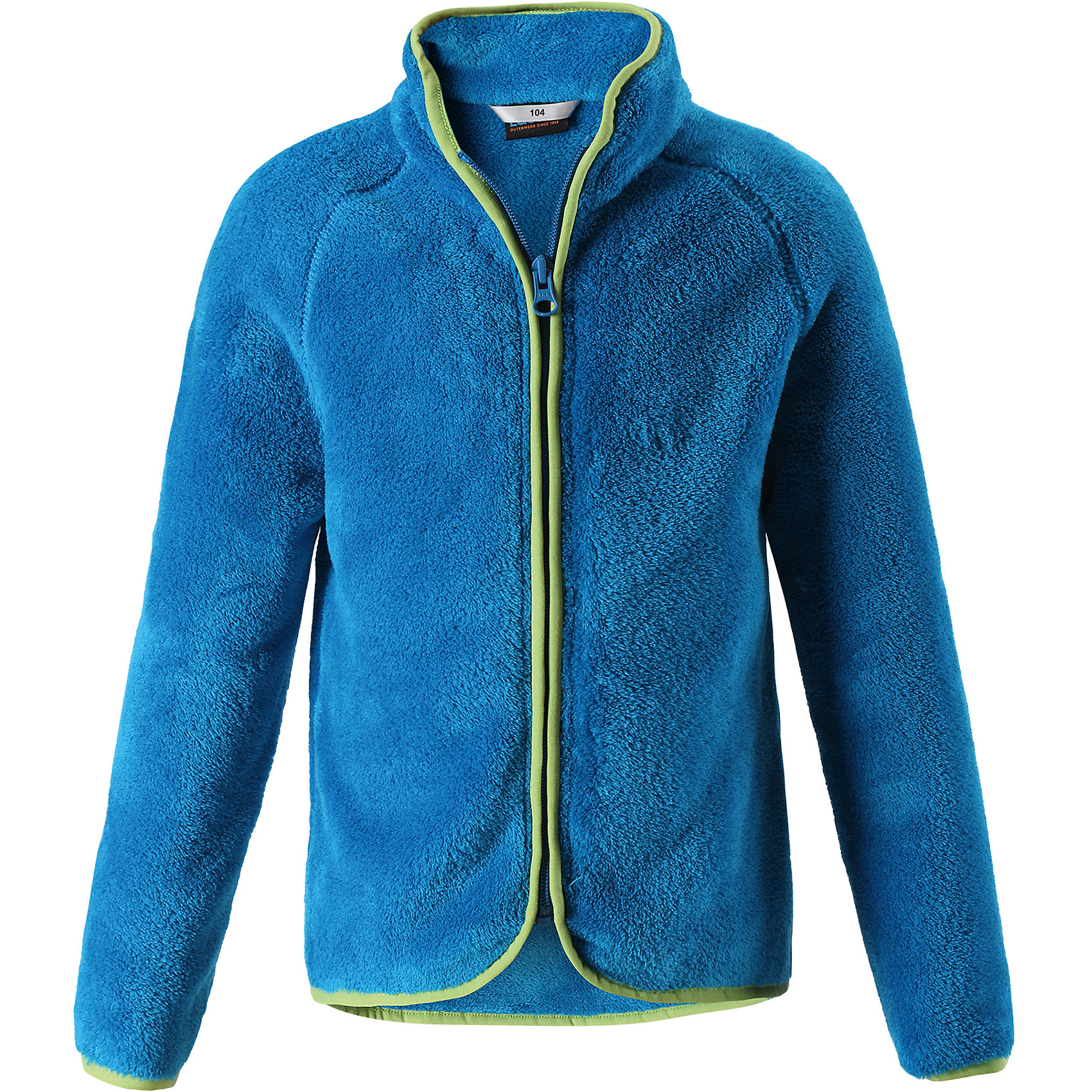 Флисовая кофта LassieОдежда<br>Характеристики товара:<br><br>• цвет: синий;<br>• состав: 100% полиэстер, флис 260 г/м2;<br>• сезон: зима;<br>• застежка: молния по всей длине;<br>• выводит влагу в верхние слои одежды;<br>• простой в уходе материал, быстро сохнет; <br>• мягкий и удобный, пушистый флисовый материал;<br>• эластичная резинка на воротнике, манжетах и подоле; <br>• страна бренда: Финляндия;<br>• страна изготовитель: Китай;<br><br>Флисовая кофта – то, что надо! Флис – простой в уходе и быстросохнущий материал, который отводит влагу от кожи и отлично согревает, в нем маленькому любителю прогулок будет всегда тепло. А благодаря практичной молнии во всю длину спереди куртку легко надевать.<br><br>Флисовая кофта Lassie (Ласси) можно купить в нашем интернет-магазине.<br><br>Ширина мм: 190<br>Глубина мм: 74<br>Высота мм: 229<br>Вес г: 236<br>Цвет: синий<br>Возраст от месяцев: 108<br>Возраст до месяцев: 120<br>Пол: Унисекс<br>Возраст: Детский<br>Размер: 140,92,98,104,110,116,122,128,134<br>SKU: 6927961