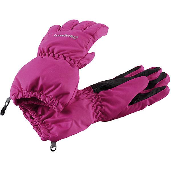 Перчатки Lassietec LassieПерчатки и варежки<br>Характеристики товара:<br><br>• цвет: розовый;<br>• состав: 100% полиэстер;<br>• подкладка: 100% полиэстер с начесом;<br>• утеплитель: 120 г/м2;<br>• сезон: зима;<br>• температурный режим: от 0 до -20С;<br>• водонепроницаемость: 5000 мм;<br>• воздухопроницаемость: 5000 мм;<br>• износостойкость: 20000 циклов (тест Мартиндейла);<br>• особенности: мембранные;<br>• водо- и ветронепроницаемый дышащий материал;<br>• водонепроницаемая вставка;<br>• подкладка из полиэстера с начесом; <br>• усиление на ладони и большом пальце;<br>• светоотражающие детали; <br>• страна бренда: Финляндия;<br>• страна изготовитель: Китай;<br><br>Детские перчатки Lassietec® изготовлены из сверхпрочного материала и идеально подойдут для любой погоды. Водонепроницаемая мембрана помогает сохранить ручки сухими и теплыми, а подкладка с начесом очень мягкая и нежная на ощупь. Перчатки снабжены усилениями на ладони и большом пальце.<br><br>Перчатки Lassietec Lassie (Ласси) можно купить в нашем интернет-магазине.<br><br>Ширина мм: 162<br>Глубина мм: 171<br>Высота мм: 55<br>Вес г: 119<br>Цвет: розовый<br>Возраст от месяцев: 24<br>Возраст до месяцев: 48<br>Пол: Унисекс<br>Возраст: Детский<br>Размер: 3,6,5,4<br>SKU: 6927991