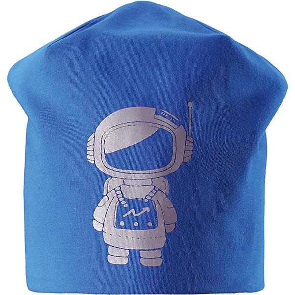 Шапка LassieШапки и шарфы<br>Характеристики товара:<br><br>• цвет: синий;<br>• состав: 95% хлопок, 5% эластан;<br>• подкладка: 100% полиэстер, флис;<br>• без утеплителя;<br>• сезон: демисезон;<br>• температурный режим: от +5С;<br>• эластичный удобный материал;<br>• ветронепроницаемые вставки в области ушей; <br>• сплошная подкладка: мягкий теплый флис;<br>• декоративный принт;<br>• светоотражающие детали; <br>• страна бренда: Финляндия;<br>• страна изготовитель: Китай;<br><br>Осенняя шапка на флисовой подкладке. Ветронепроницаемые вставки в области ушей защищают от холодного ветра, а светоотражающая эмблема Lassie® спереди позволяет лучше разглядеть ребенка в темное время суток. Шапка из плотного джерси, с подкладкой из быстросохнущего флиса, станет идеальным вариантом для осенних прогулок. <br><br>Шапку Lassie (Ласси) можно купить в нашем интернет-магазине.<br>Ширина мм: 89; Глубина мм: 117; Высота мм: 44; Вес г: 155; Цвет: синий; Возраст от месяцев: 12; Возраст до месяцев: 24; Пол: Мужской; Возраст: Детский; Размер: 46-48,54-56,50-52; SKU: 6928113;