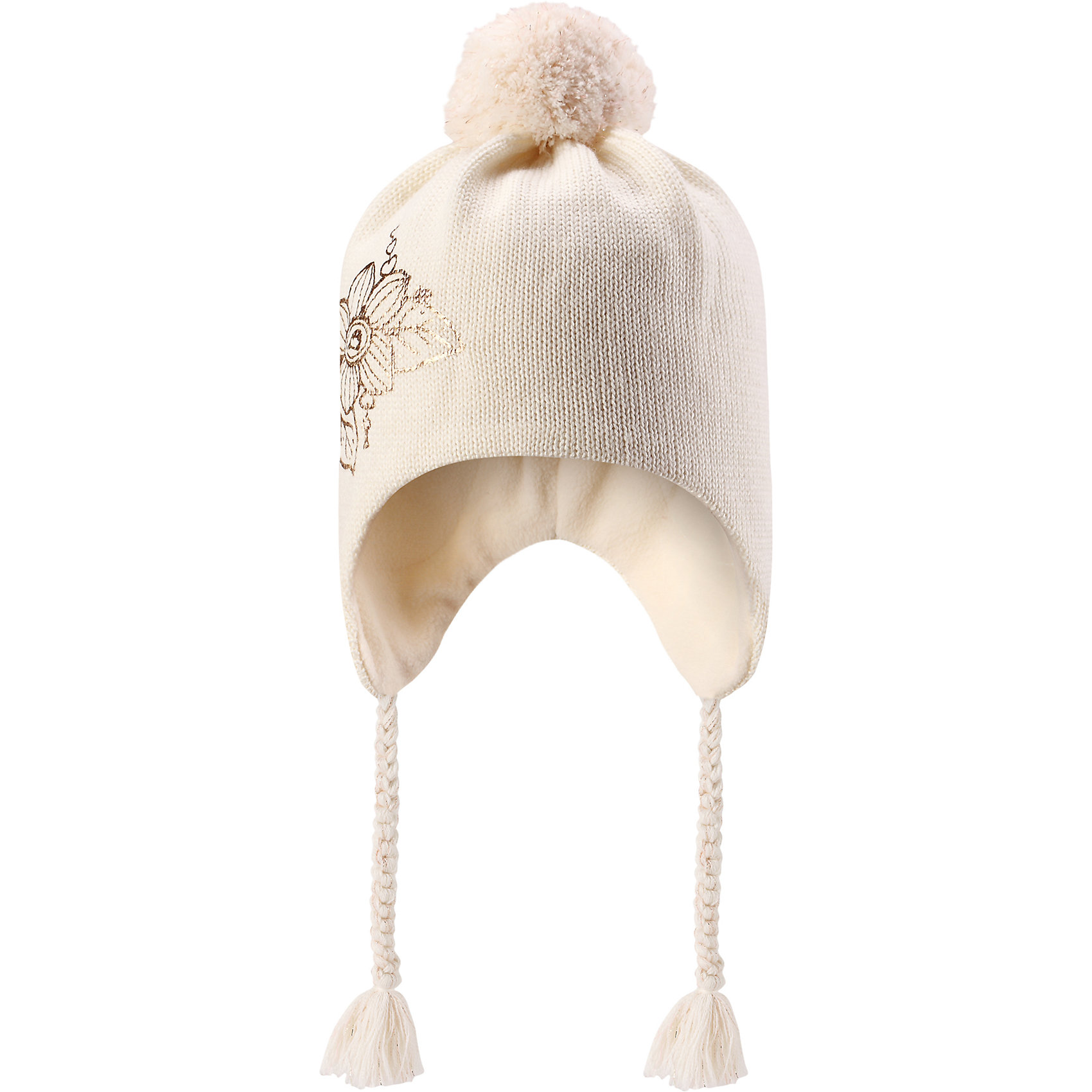 Шапка Lassie для девочкиШапки и шарфы<br>Характеристики товара:<br><br>• цвет: белый;<br>• состав: 50% шерсть, 50% полиакрил;<br>• подкладка: 100% полиэстер, флис;<br>• без утеплителя;<br>• сезон: демисезон;<br>• температурный режим: от +5С;<br>• особенности: шерстяная, с помпоном;<br>• шапка на завязках;<br>• мягкая и теплая ткань из смеси шерсти;<br>• ветронепроницаемые вставки в области ушей; <br>• сплошная подкладка: мягкий теплый флис;<br>• светоотражающие детали; <br>• страна бренда: Финляндия;<br>• страна изготовитель: Китай;<br><br>Эта очаровательная детская шапка незаменима в холодные зимние дни! Красивая и гладкая флисовая подкладка очень приятна на ощупь и обеспечивает дополнительное утепление. Ветронепроницаемые вставки в области ушей защищают ушки от холодного ветра, а спереди на шапке размещена светоотражающая эмблема Lassie®. <br><br>Шапку Lassie (Ласси) можно купить в нашем интернет-магазине.<br><br>Ширина мм: 89<br>Глубина мм: 117<br>Высота мм: 44<br>Вес г: 155<br>Цвет: белый<br>Возраст от месяцев: 72<br>Возраст до месяцев: 144<br>Пол: Женский<br>Возраст: Детский<br>Размер: 54-56,46-48,50-52<br>SKU: 6928157