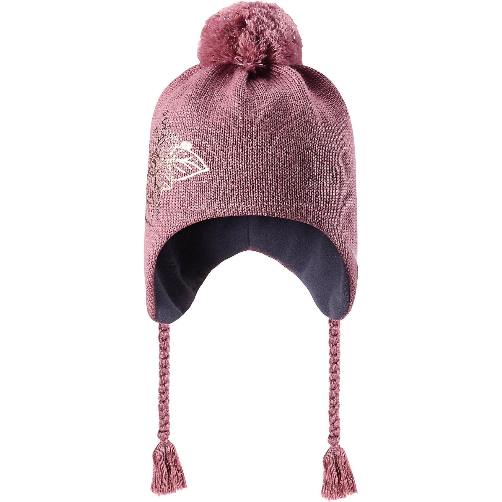 Шапка Lassie для девочкиШапки и шарфы<br>Характеристики товара:<br><br>• цвет: розовый;<br>• состав: 50% шерсть, 50% полиакрил;<br>• подкладка: 100% полиэстер, флис;<br>• без утеплителя;<br>• сезон: демисезон;<br>• температурный режим: от +5С;<br>• особенности: шерстяная, с помпоном;<br>• шапка на завязках;<br>• мягкая и теплая ткань из смеси шерсти;<br>• ветронепроницаемые вставки в области ушей; <br>• сплошная подкладка: мягкий теплый флис;<br>• светоотражающие детали; <br>• страна бренда: Финляндия;<br>• страна изготовитель: Китай;<br><br>Эта очаровательная детская шапка незаменима в холодные зимние дни! Красивая и гладкая флисовая подкладка очень приятна на ощупь и обеспечивает дополнительное утепление. Ветронепроницаемые вставки в области ушей защищают ушки от холодного ветра, а спереди на шапке размещена светоотражающая эмблема Lassie®. <br><br>Шапку Lassie (Ласси) можно купить в нашем интернет-магазине.<br><br>Ширина мм: 89<br>Глубина мм: 117<br>Высота мм: 44<br>Вес г: 155<br>Цвет: розовый<br>Возраст от месяцев: 72<br>Возраст до месяцев: 144<br>Пол: Женский<br>Возраст: Детский<br>Размер: 46-48,50-52,54-56<br>SKU: 6928161