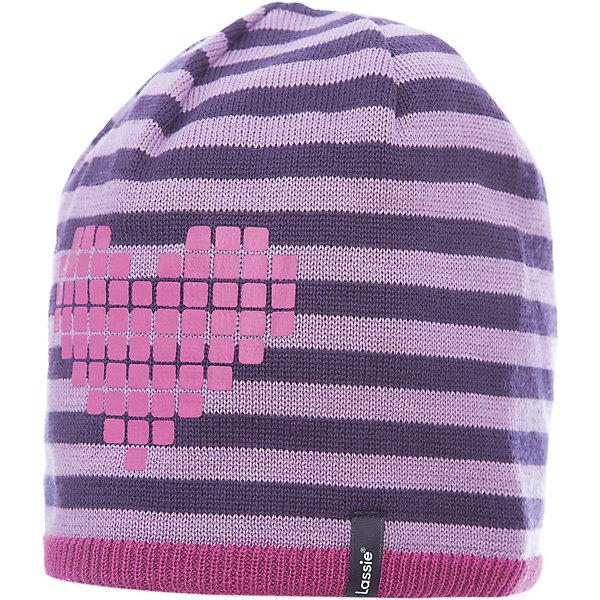 Шапка LassieГоловные уборы<br>Характеристики товара:<br><br>• цвет: розовый;<br>• состав: 50% шерсть, 50% полиакрил;<br>• подкладка: 100% полиэстер, флис;<br>• без утеплителя;<br>• сезон: демисезон;<br>• температурный режим: от +5С;<br>• особенности: в полоску, шерстяная;<br>• мягкая и теплая ткань из смеси шерсти;<br>• ветронепроницаемые вставки в области ушей; <br>• сплошная подкладка: мягкий теплый флис;<br>• светоотражающие детали; <br>• страна бренда: Финляндия;<br>• страна изготовитель: Китай;<br><br>Эта теплая детская шапка в яркую полоску связана из теплой полушерсти и подбита плотной и мягкой подкладкой из джерси. Ветронепроницаемые вставки в области ушей обеспечивают дополнительную защиту от холодного ветра, а спереди на шапке размещена светоотражающая эмблема Lassie®.<br><br>Шапку Lassie (Ласси) можно купить в нашем интернет-магазине.<br><br>Ширина мм: 89<br>Глубина мм: 117<br>Высота мм: 44<br>Вес г: 155<br>Цвет: розовый<br>Возраст от месяцев: 72<br>Возраст до месяцев: 144<br>Пол: Женский<br>Возраст: Детский<br>Размер: 54-56,50-52,46-48<br>SKU: 6928197