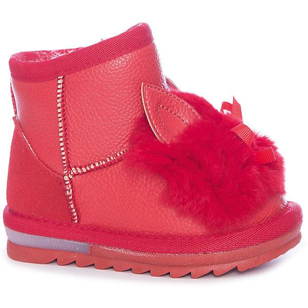 Угги Vitacci для девочкиСапоги<br>Характеристики товара:<br><br>• цвет: красный<br>• внешний материал: текстиль<br>• внешний материал: искусственная кожа<br>• стелька: шерстяной мех<br>• подошва: резина<br>• сезон: зима<br>• температурный режим: от 0 до -20С<br>• подошва не скользит <br>• анатомические <br>• страна бренда: Италия<br>• страна производства: Китай<br><br>Красные сапоги для ребенка разработаны с учетом тенденций в современной молодежной моде. Такие угги для девочки от Витачи смотрятся оригинально и модно. Детские сапоги Vitacci утеплены натуральным мехом. Зимние сапоги для девочки созданы для холодной погоды. <br><br>Сапоги для девочки Vitacci (Витачи) можно купить в нашем интернет-магазине.<br><br>Ширина мм: 257<br>Глубина мм: 180<br>Высота мм: 130<br>Вес г: 420<br>Цвет: красный<br>Возраст от месяцев: 12<br>Возраст до месяцев: 15<br>Пол: Женский<br>Возраст: Детский<br>Размер: 21,30,22,23,24,25,26,27,28,29<br>SKU: 6928997