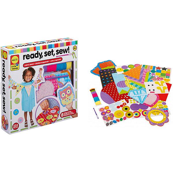 Набор для творчества Alex Учимся вышиватьШитьё<br>Характеристики:<br><br>• возраст: от 4 лет<br>• в наборе 224 предмета: 15 заготовок перфорированного картона, 5 перфорированных бумажных форм, 174 наклейки, короткая пластиковая игла, 29 заготовок предварительно разрезанной акриловой пряжи из 7 цветов, инструкция<br>• упаковка: картонная коробка<br>• размер упаковки: 25х25х5 см.<br>• вес: 365 гр.<br><br>Этот набор из 224 предметов обучает детей основам шитья. Используя иглу, чтобы сшить вместе кусочки бумаги и картона, дети могут выполнить 8 различных поделок, оттачивая навыки правильного выполнения стежков.<br><br>Предметы, входящие в комплект, отличаются большим разнообразием форм, текстуры и яркостью расцветки. Поделки, созданные при помощи предметов из данного набора, выглядят ярко и оригинально.<br><br>Набор Учимся вышивать от 4 лет можно купить в нашем интернет-магазине.<br>Ширина мм: 25; Глубина мм: 25; Высота мм: 5; Вес г: 365; Возраст от месяцев: 48; Возраст до месяцев: 2147483647; Пол: Женский; Возраст: Детский; SKU: 6930920;