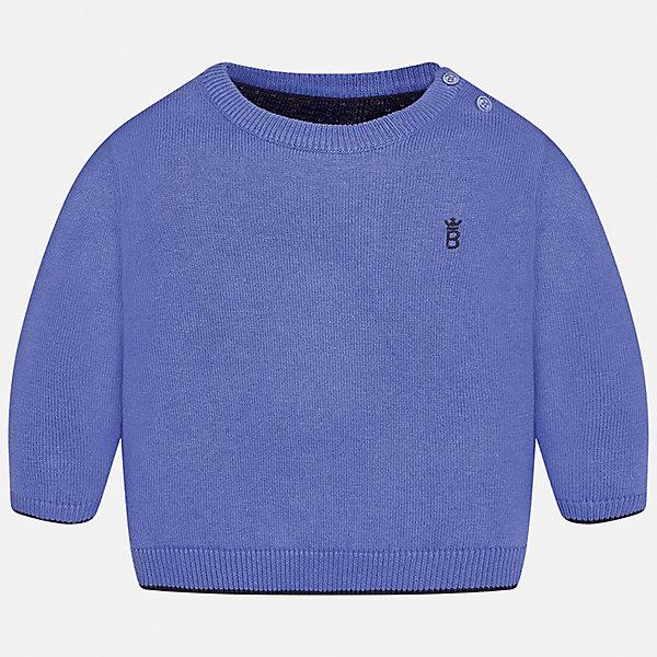 Свитер Mayoral для мальчикаТолстовки, свитера, кардиганы<br>Характеристики товара:<br><br>• цвет: голубой;<br>• состав ткани: 100% хлопок;<br>• длинный рукав - реглан;<br>• однотонный;<br>• школьный;<br>• сезон: демисезон;<br>• страна бренда: Испания;<br>• страна изготовитель: Бангладеш.<br><br>Однотонный свитер для мальчика от популярного бренда Mayoral из натурально и мягкого 100% хлопка тонкой вязки, декорирован маленьким принтом в виде логотипа с вышивкой. Имеет круглый вырез и уплотненные края на руковах и поясе. Очень практичный и долгий в носке, цвет нетускнеет, смотрится аккуратно и стильно как с джинсами, так и в сочетании со школьной формой.<br><br>Для производства детской одежды популярный бренд Mayoral используют только качественную фурнитуру и материалы. Оригинальные и модные вещи от Майорал неизменно привлекают внимание и нравятся детям.<br><br>Свитер для мальчика Mayoral (Майорал) можно купить в нашем интернет-магазине.<br><br>Ширина мм: 190<br>Глубина мм: 74<br>Высота мм: 229<br>Вес г: 236<br>Цвет: лиловый<br>Возраст от месяцев: 6<br>Возраст до месяцев: 9<br>Пол: Мужской<br>Возраст: Детский<br>Размер: 74,98,92,86,80<br>SKU: 6931781