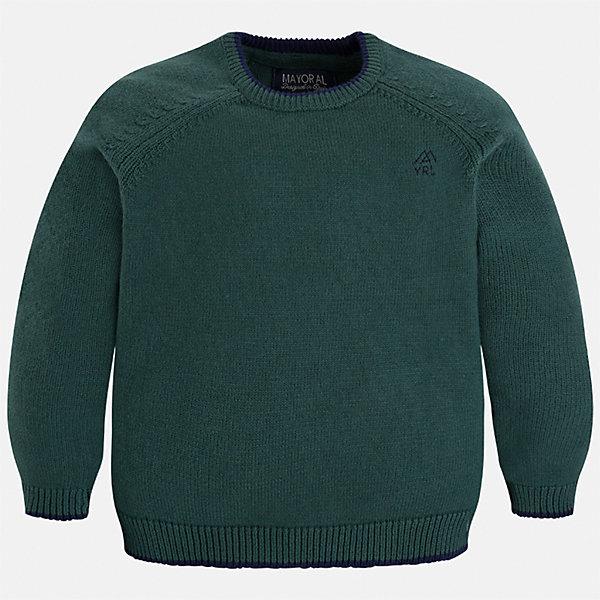 Свитер для мальчика MayoralСвитера и кардиганы<br>Характеристики товара:<br><br>• цвет: зеленый;<br>• состав ткани: 60% хлопок, 30% полиамид, 10% шерсть;<br>• длинный рукав - реглан;<br>• однотонный;<br>• сезон: демисезон;<br>• школьный;<br>• страна бренда: Испания;<br>• страна изготовитель: Бангладеш.<br><br>Однотонный свитер для мальчика от популярного бренда Mayoral из натурально и мягкого 100% хлопка тонкой вязки, декорирован маленьким принтом в виде логотипа с вышивкой. Имеет круглый вырез и уплотненные края на руковах и поясе. Очень практичный и долгий в носке, цвет нетускнеет, смотрится аккуратно и стильно как с джинсами, так и в сочетании со школьной формой.<br><br>Для производства детской одежды популярный бренд Mayoral используют только качественную фурнитуру и материалы. Оригинальные и модные вещи от Майорал неизменно привлекают внимание и нравятся детям.<br><br>Свитер для мальчика Mayoral (Майорал) можно купить в нашем интернет-магазине.<br>Ширина мм: 190; Глубина мм: 74; Высота мм: 229; Вес г: 236; Цвет: зеленый; Возраст от месяцев: 24; Возраст до месяцев: 36; Пол: Мужской; Возраст: Детский; Размер: 98,92,110,134,128,122,116,104; SKU: 6931814;