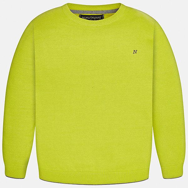 Свитер Mayoral для мальчикаСвитера и кардиганы<br>Характеристики товара:<br><br>• цвет: желтый;<br>• состав ткани: 100% хлопок;<br>• длинный рукав-реглан;<br>• однотонный;<br>• сезон: демисезон;<br>• страна бренда: Испания;<br>• страна изготовитель: Бангладеш.<br><br>Свитер для мальчика от популярного бренда Mayoral из натурального и мягкого 100% хлопка тонкой вязки, локоничного однотонного цвета, декорирован принтом в виде логотипа с вышивкой на груди. Имеет круглый вырез и уплотненные края на руковах и поясе  с контрастной  оконтовкой. <br><br>Данная модель свитера очень практичный и универсальный вариант для повседневной одежды, комбинируемый со множеством вариантов, цвет нетускнеет, смотрится аккуратно и стильно.<br><br>В одежде от испанской компании Майорал ребенок будет выглядеть модно, а чувствовать себя - комфортно.<br><br>Свитер для мальчика Mayoral (Майорал) можно купить в нашем интернет-магазине.<br><br>Ширина мм: 190<br>Глубина мм: 74<br>Высота мм: 229<br>Вес г: 236<br>Цвет: зеленый<br>Возраст от месяцев: 96<br>Возраст до месяцев: 108<br>Пол: Мужской<br>Возраст: Детский<br>Размер: 128/134,140,152,158,164,170<br>SKU: 6931886