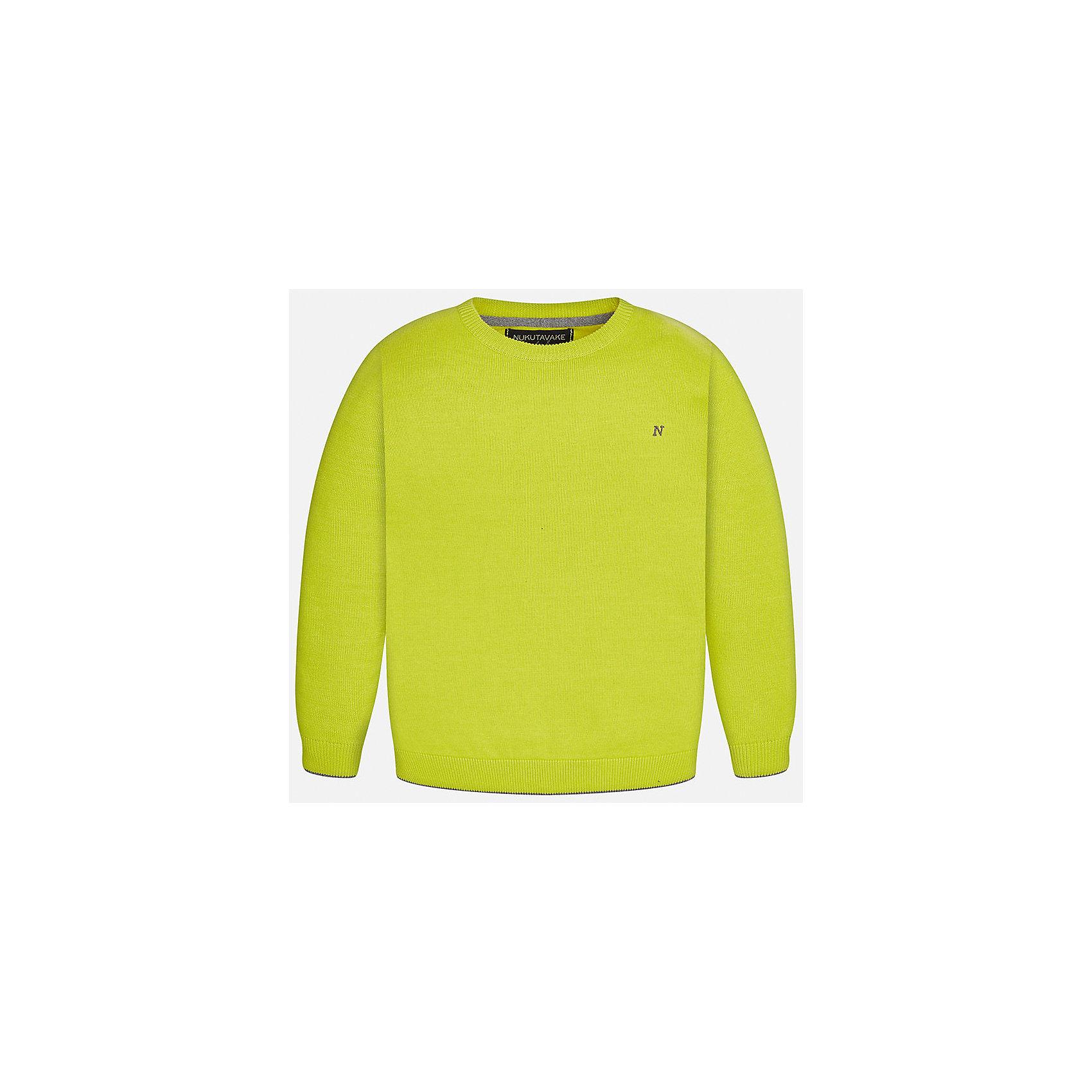 Свитер Mayoral для мальчикаСвитера и кардиганы<br>Характеристики товара:<br><br>• цвет: желтый;<br>• состав ткани: 100% хлопок;<br>• длинный рукав-реглан;<br>• однотонный;<br>• сезон: демисезон;<br>• страна бренда: Испания;<br>• страна изготовитель: Бангладеш.<br><br>Свитер для мальчика от популярного бренда Mayoral из натурального и мягкого 100% хлопка тонкой вязки, локоничного однотонного цвета, декорирован принтом в виде логотипа с вышивкой на груди. Имеет круглый вырез и уплотненные края на руковах и поясе  с контрастной  оконтовкой. <br><br>Данная модель свитера очень практичный и универсальный вариант для повседневной одежды, комбинируемый со множеством вариантов, цвет нетускнеет, смотрится аккуратно и стильно.<br><br>В одежде от испанской компании Майорал ребенок будет выглядеть модно, а чувствовать себя - комфортно.<br><br>Свитер для мальчика Mayoral (Майорал) можно купить в нашем интернет-магазине.<br><br>Ширина мм: 190<br>Глубина мм: 74<br>Высота мм: 229<br>Вес г: 236<br>Цвет: зеленый<br>Возраст от месяцев: 168<br>Возраст до месяцев: 180<br>Пол: Мужской<br>Возраст: Детский<br>Размер: 170,128/134,140,152,158,164<br>SKU: 6931886