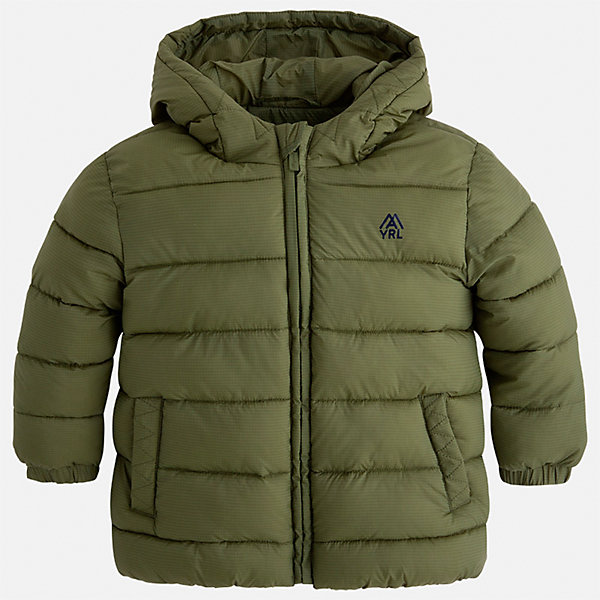 Куртка Mayoral для мальчикаДемисезонные куртки<br>Характеристики товара:<br><br>• цвет: зеленый;<br>• сезон: демисезон;<br>• состав ткани: 100% полиэстер;<br>• состав подкладки: 100% полиэстер;<br>• стеганая;<br>• капюшон: без меха, не отстегивается;<br>• страна бренда: Испания;<br>• страна изготовитель: Бангладеш.<br><br>Демисезонная куртка для мальчика от популярного бренда Mayoral несомненно понравится вам и вашему ребенку. Качественные ткани, безупречное исполнение, все модели в центре модных тенденций. Внешняя ткань плащевая, подкладка из флиса, аккуратные швы. Рукава на внутренней манжете. Застегивается на замок-молнию, капюшон не отстегивается. <br><br>Легкая и теплая куртка с капюшоном и карманами на холодную осень-весну. Грамотный крой изделия обеспечивает отличную посадку по фигуре.<br><br>Куртку  для мальчика Mayoral (Майорал) можно купить в нашем интернет-магазине.<br><br>Ширина мм: 356<br>Глубина мм: 10<br>Высота мм: 245<br>Вес г: 519<br>Цвет: зеленый<br>Возраст от месяцев: 24<br>Возраст до месяцев: 36<br>Пол: Мужской<br>Возраст: Детский<br>Размер: 98,92,134,128,122,116,110,104<br>SKU: 6931900