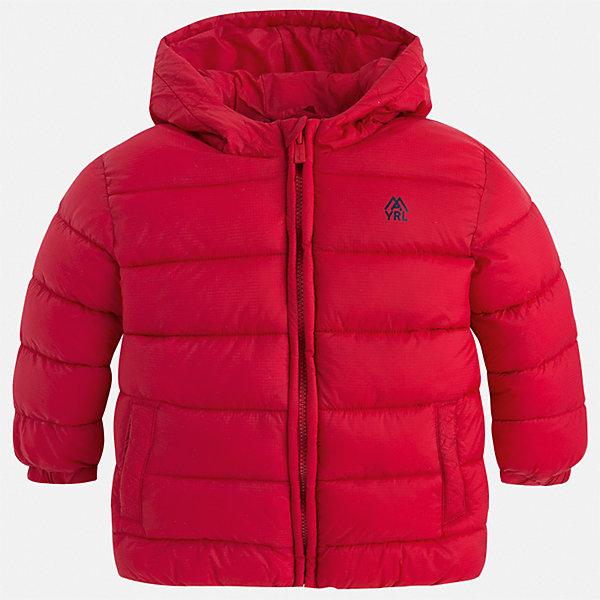 Куртка для мальчика MayoralДемисезонные куртки<br>Характеристики товара:<br><br>• цвет: красный;<br>• сезон: демисезон;<br>• состав ткани: 100% полиэстер;<br>• состав подкладки: 100% полиэстер;<br>• стеганая;<br>• капюшон: без меха, не отстегивается;<br>• страна бренда: Испания;<br>• страна изготовитель: Бангладеш.<br><br>Демисезонная куртка для мальчика от популярного бренда Mayoral несомненно понравится вам и вашему ребенку. Качественные ткани, безупречное исполнение, все модели в центре модных тенденций. Внешняя ткань плащевая, подкладка из флиса, аккуратные швы. Рукава на внутренней манжете. Застегивается на замок-молнию, капюшон не отстегивается. <br><br>Легкая и теплая куртка с капюшоном и карманами на холодную осень-весну. Грамотный крой изделия обеспечивает отличную посадку по фигуре.<br><br>Куртку  для мальчика Mayoral (Майорал) можно купить в нашем интернет-магазине.<br>Ширина мм: 356; Глубина мм: 10; Высота мм: 245; Вес г: 519; Цвет: красный; Возраст от месяцев: 18; Возраст до месяцев: 24; Пол: Мужской; Возраст: Детский; Размер: 92,134,128,122,116,110,104,98; SKU: 6931918;