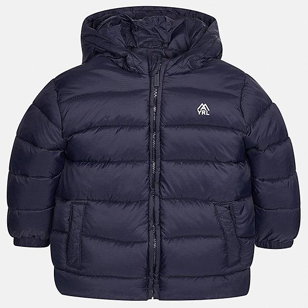 Куртка для мальчика MayoralДемисезонные куртки<br>Характеристики товара:<br><br>• цвет: темно-синий;<br>• сезон: демисезон;<br>• состав ткани: 100% полиэстер;<br>• состав подкладки: 100% полиэстер;<br>• стеганая;<br>• капюшон: без меха, не отстегивается;<br>• страна бренда: Испания;<br>• страна изготовитель: Бангладеш.<br><br>Демисезонная куртка для мальчика от популярного бренда Mayoral несомненно понравится вам и вашему ребенку. Качественные ткани, безупречное исполнение, все модели в центре модных тенденций. Внешняя ткань плащевая, подкладка из флиса, аккуратные швы. Рукава на внутренней манжете. Застегивается на замок-молнию, капюшон не отстегивается. <br><br>Легкая и теплая куртка с капюшоном и карманами на холодную осень-весну. Грамотный крой изделия обеспечивает отличную посадку по фигуре.<br><br>Куртку  для мальчика Mayoral (Майорал) можно купить в нашем интернет-магазине.<br><br>Ширина мм: 356<br>Глубина мм: 10<br>Высота мм: 245<br>Вес г: 519<br>Цвет: темно-синий<br>Возраст от месяцев: 18<br>Возраст до месяцев: 24<br>Пол: Мужской<br>Возраст: Детский<br>Размер: 92,134,128,122,116,110,104,98<br>SKU: 6931927
