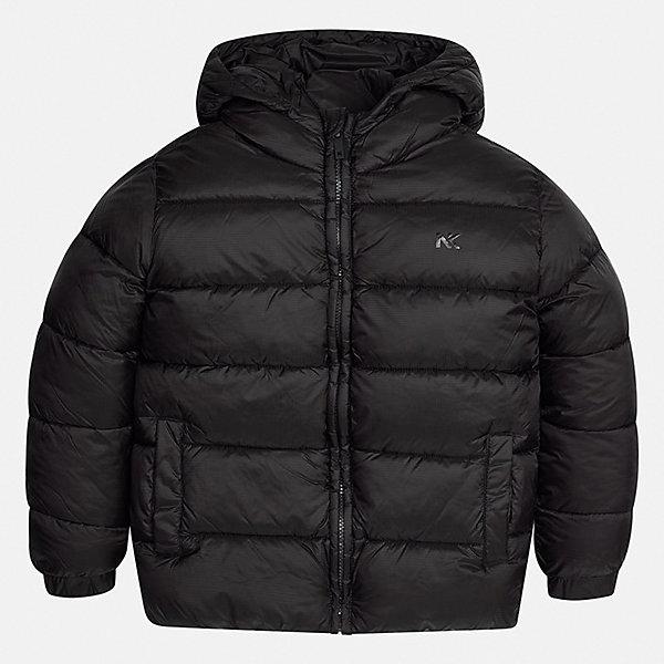 Куртка для мальчика MayoralДемисезонные куртки<br>Характеристики товара:<br><br>• цвет: черный;<br>• сезон: демисезон;<br>• состав ткани: 100% полиэстер;<br>• состав подкладки: 100% полиэстер;<br>• стеганая;<br>• капюшон: без меха, не отстегивается;<br>• страна бренда: Испания;<br>• страна изготовитель: Бангладеш.<br><br>Демисезонная куртка для мальчика от популярного бренда Mayoral несомненно понравится вам и вашему ребенку. Качественные ткани, безупречное исполнение, все модели в центре модных тенденций. Внешняя ткань плащевая, подкладка из флиса, аккуратные швы. Рукава на внутренней манжете. Застегивается на замок-молнию, капюшон не отстегивается. <br><br>Легкая и теплая куртка с капюшоном и карманами на холодную осень-весну. Грамотный крой изделия обеспечивает отличную посадку по фигуре.<br><br>Куртку  для мальчика Mayoral (Майорал) можно купить в нашем интернет-магазине.<br>Ширина мм: 356; Глубина мм: 10; Высота мм: 245; Вес г: 519; Цвет: черный; Возраст от месяцев: 108; Возраст до месяцев: 120; Пол: Мужской; Возраст: Детский; Размер: 140,170,164,158,152; SKU: 6931943;