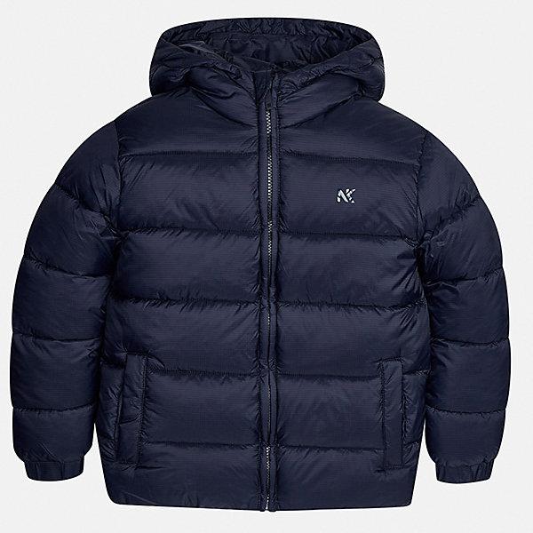 Куртка для мальчика MayoralВерхняя одежда<br>Характеристики товара:<br><br>• цвет: темно-синий;<br>• сезон: демисезон;<br>• состав ткани: 100% полиэстер;<br>• состав подкладки: 100% полиэстер;<br>• стеганая;<br>• капюшон: без меха, не отстегивается;<br>• страна бренда: Испания;<br>• страна изготовитель: Бангладеш.<br><br>Демисезонная куртка для мальчика от популярного бренда Mayoral несомненно понравится вам и вашему ребенку. Качественные ткани, безупречное исполнение, все модели в центре модных тенденций. Внешняя ткань плащевая, подкладка из флиса, аккуратные швы. Рукава на внутренней манжете. Застегивается на замок-молнию, капюшон не отстегивается. <br><br>Легкая и теплая куртка с капюшоном и карманами на холодную осень-весну. Грамотный крой изделия обеспечивает отличную посадку по фигуре.<br><br>Куртку  для мальчика Mayoral (Майорал) можно купить в нашем интернет-магазине.<br><br>Ширина мм: 356<br>Глубина мм: 10<br>Высота мм: 245<br>Вес г: 519<br>Цвет: темно-синий<br>Возраст от месяцев: 168<br>Возраст до месяцев: 180<br>Пол: Мужской<br>Возраст: Детский<br>Размер: 170,128/134,140,152,158,164<br>SKU: 6931949