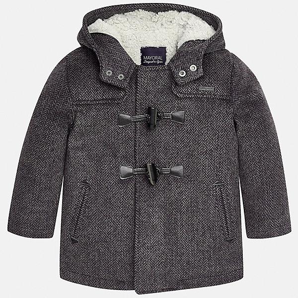 Куртка для мальчика MayoralВерхняя одежда<br>Характеристики товара:<br><br>• цвет: серый<br>• состав ткани: 94% полиэстер, 4% вискоза, 2% эластан<br>• подкладка: 100% полиэстер<br>• сезон: демисезон<br>• температурный режим: от -10 до +10<br>• особенности модели: с капюшоном<br>• застежка: молния<br>• страна бренда: Испания<br>• страна изготовитель: Китай<br><br>Эта серая детская куртка сделана из плотного качественного материала. Демисезонная куртка для мальчика Mayoral дополнена удобным капюшоном и оригинальными застежками. Отличный способ обеспечить ребенку тепло и комфорт в прохладную погоду - надеть детскую куртку от Mayoral. <br><br>Куртку Mayoral (Майорал) для мальчика можно купить в нашем интернет-магазине.<br>Ширина мм: 356; Глубина мм: 10; Высота мм: 245; Вес г: 519; Цвет: серый; Возраст от месяцев: 84; Возраст до месяцев: 96; Пол: Мужской; Возраст: Детский; Размер: 128,134,92,98,104,110,116,122; SKU: 6932704;