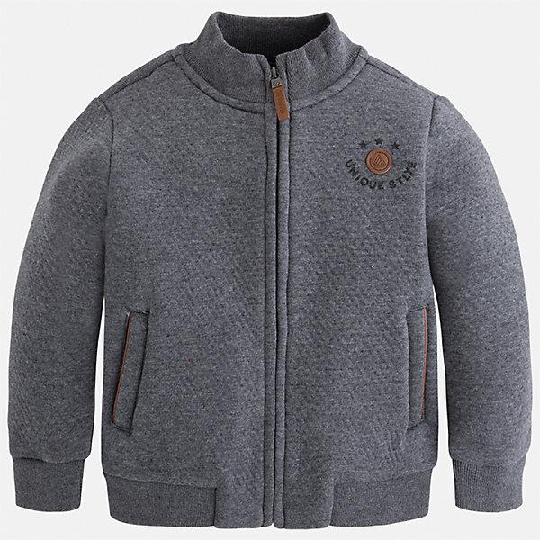 Куртка для мальчика MayoralТолстовки<br>Характеристики товара:<br><br>• цвет: серый<br>• состав ткани: 100% хлопок<br>• сезон: демисезон<br>• температурный режим: от +10 до +20<br>• особенности модели: спортивный стиль<br>• застежка: молния<br>• страна бренда: Испания<br>• страна изготовитель: Китай<br><br>Такая легкая куртка для мальчика отлично подойдет для прохладной погоды. Серая куртка для ребенка от бренда Mayoral дополнена удобными карманами. Детская куртка от Mayoral снабжена воротником-стойкой. <br><br>Куртку Mayoral (Майорал) для мальчика можно купить в нашем интернет-магазине.<br>Ширина мм: 356; Глубина мм: 10; Высота мм: 245; Вес г: 519; Цвет: серый; Возраст от месяцев: 18; Возраст до месяцев: 24; Пол: Мужской; Возраст: Детский; Размер: 92,134,128,122,116,110,104,98; SKU: 6932713;